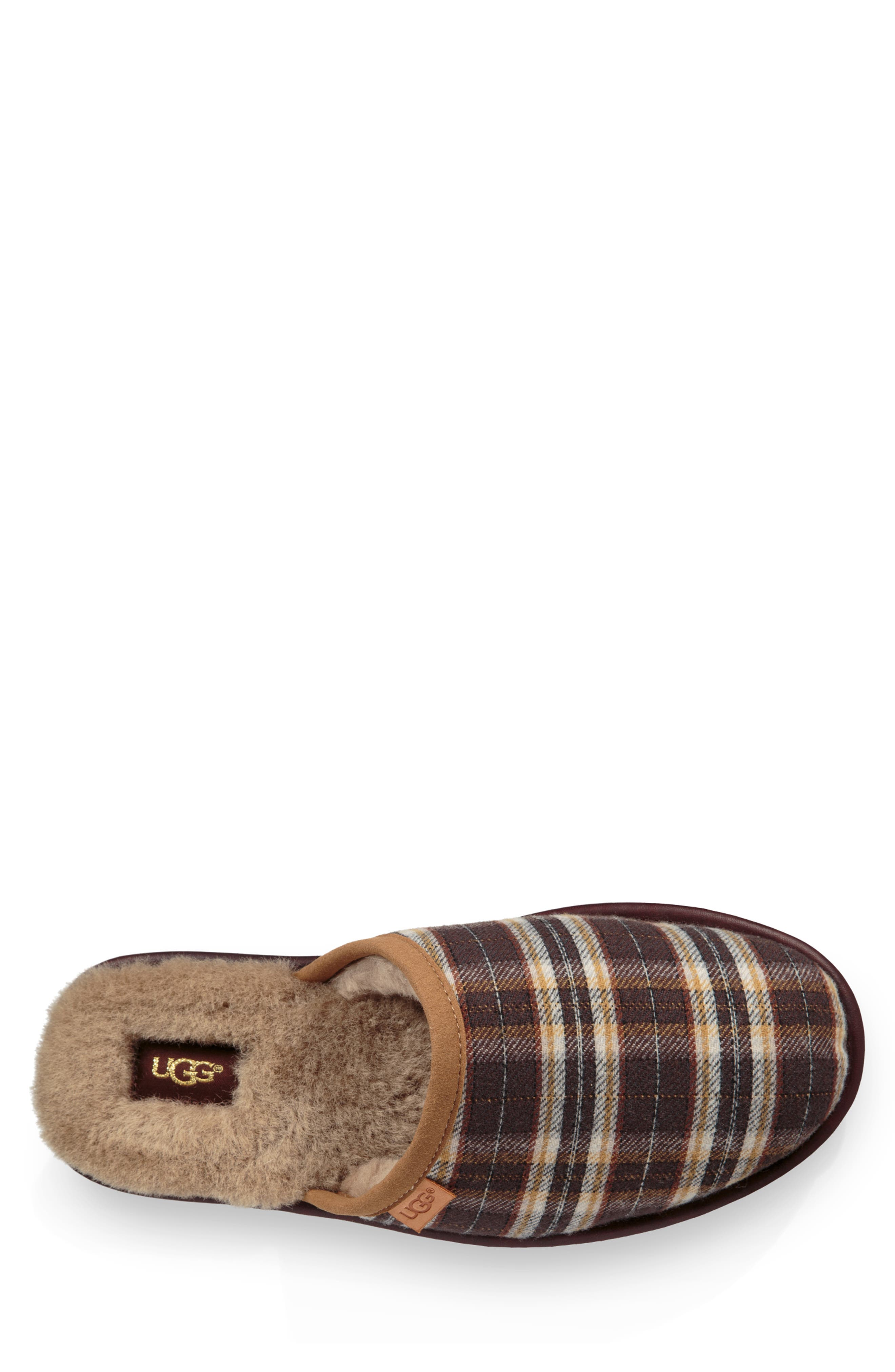 Scuff Slipper,                             Alternate thumbnail 4, color,                             CHESTNUT