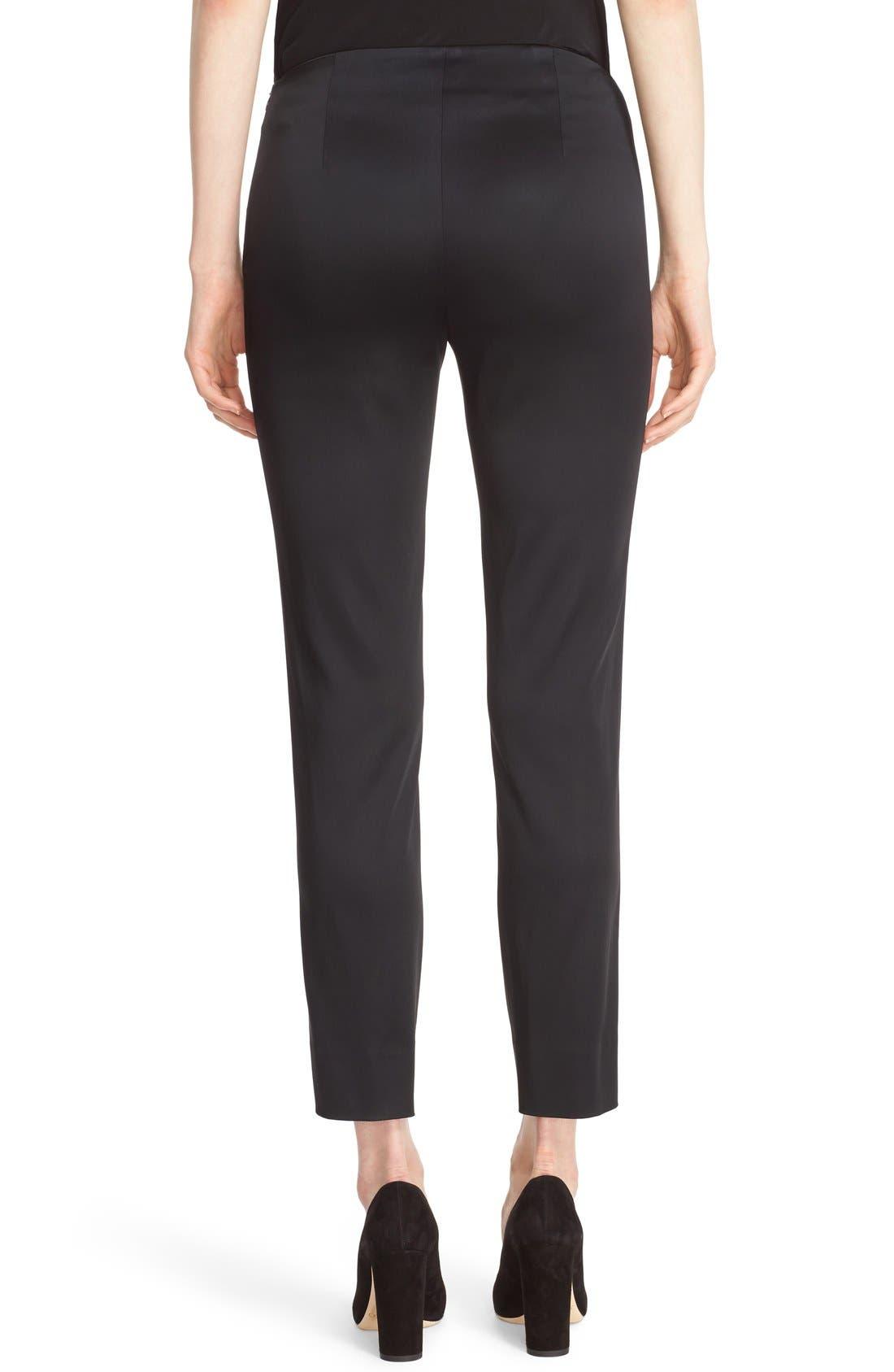 'Stanton - Belle Satin' Pants,                             Alternate thumbnail 4, color,                             BLACK