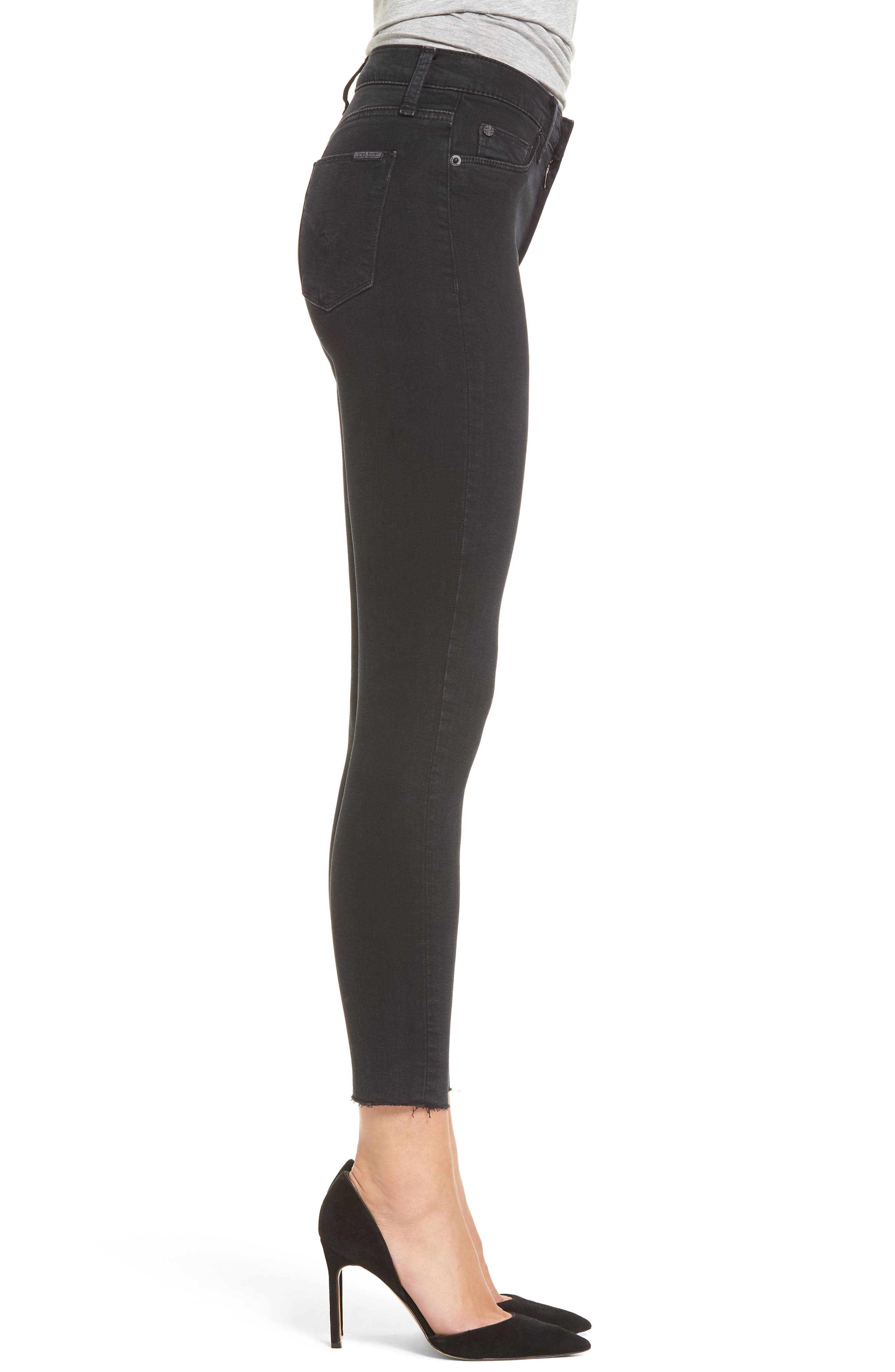 Barbara High Waist Ankle Skinny Jeans,                             Alternate thumbnail 3, color,                             001
