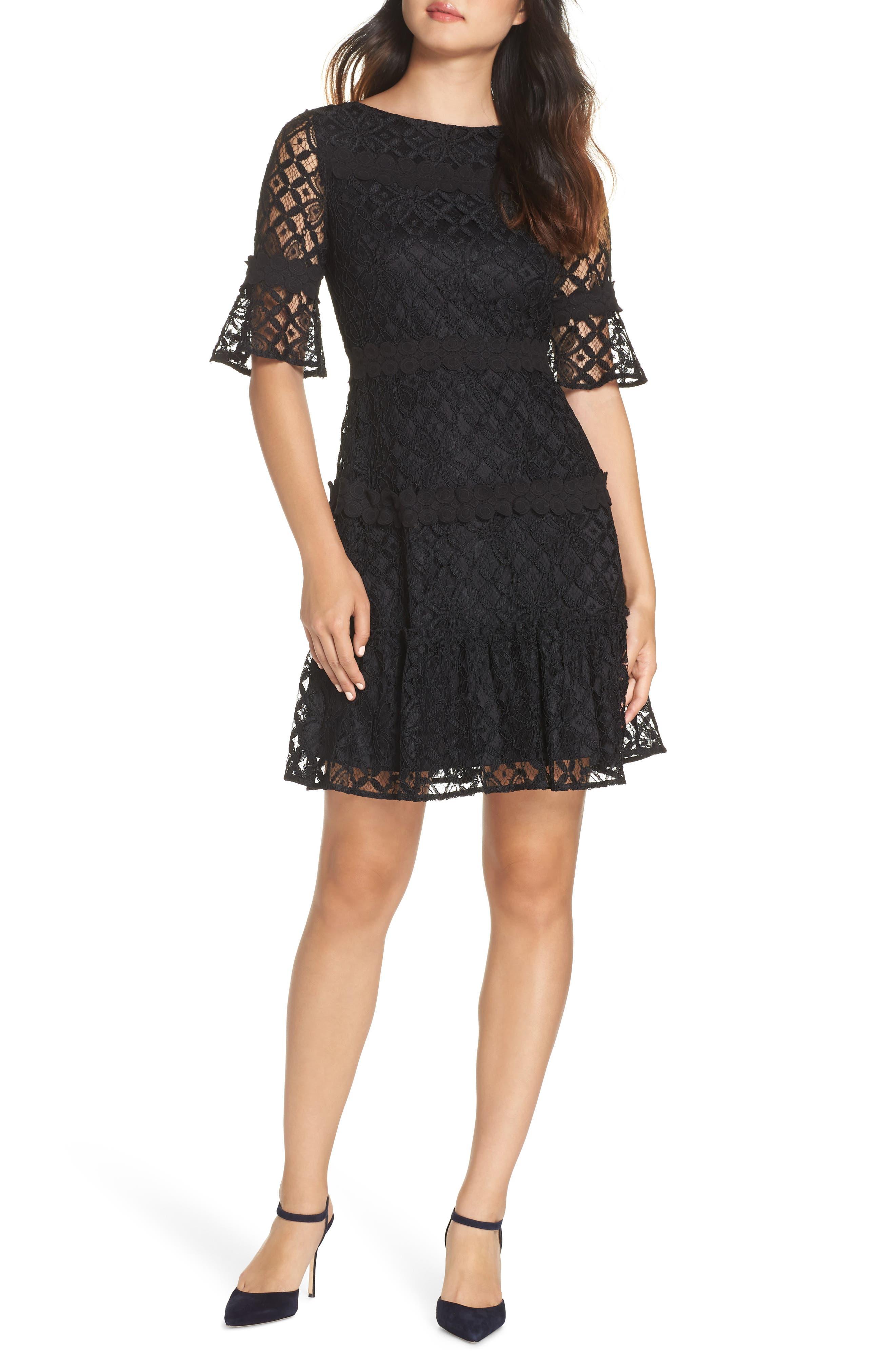 Julia Jordan Lace Sheath Dress, Black
