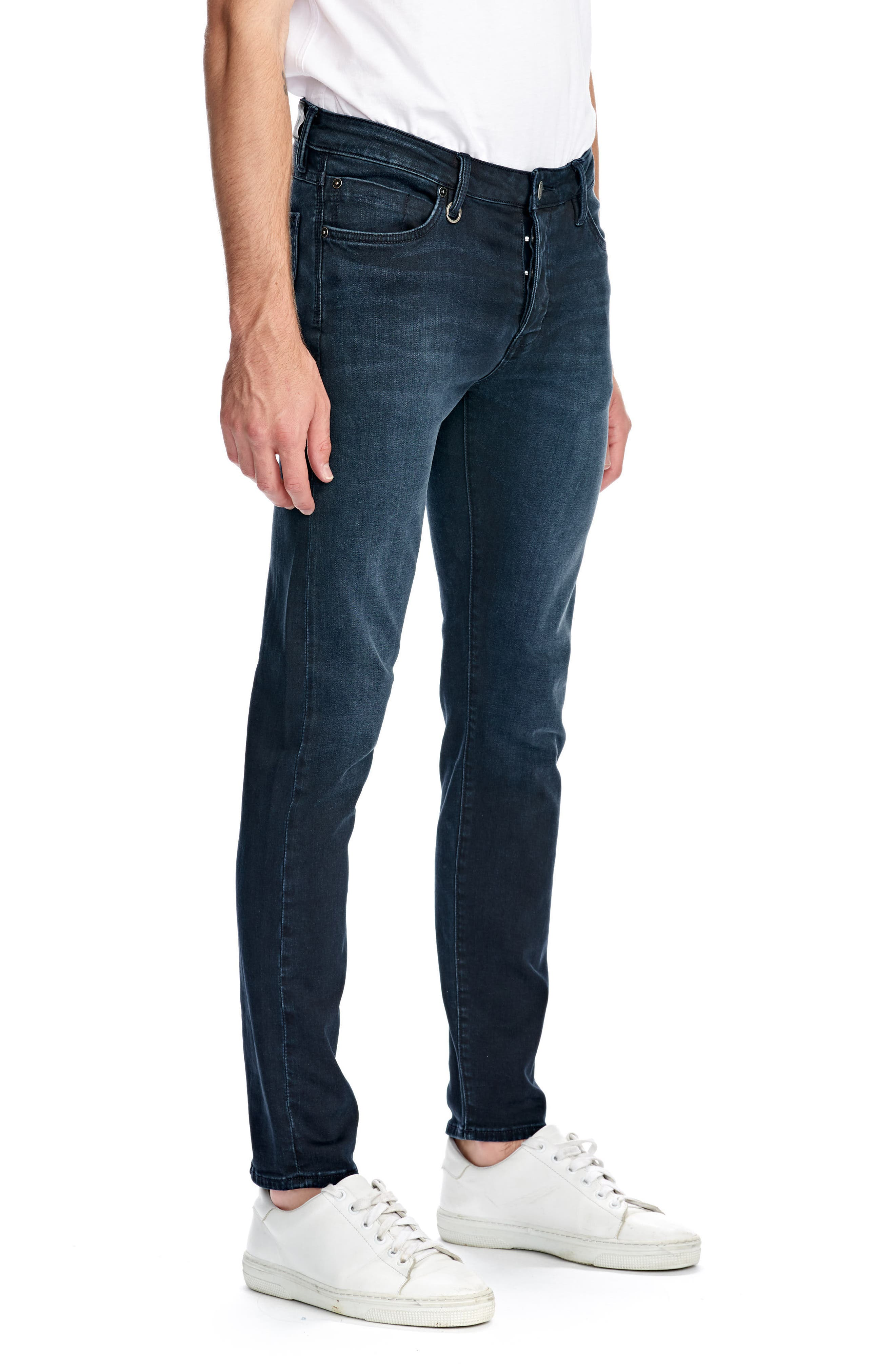 Iggy Skinny Fit Jeans,                             Alternate thumbnail 3, color,                             POLAR