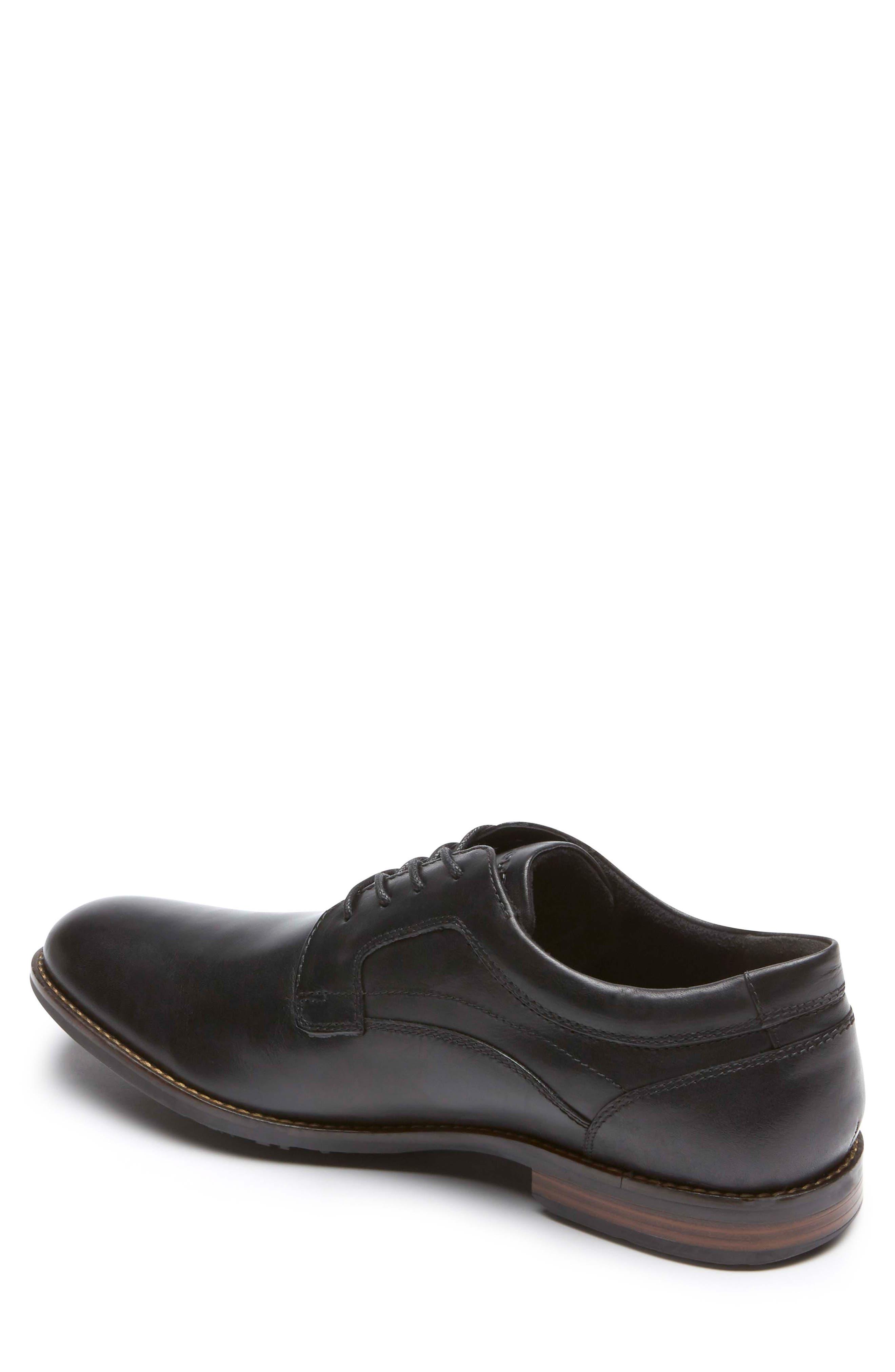 Dustyn Waterproof Plain Toe Derby,                             Alternate thumbnail 2, color,                             BLACK LEATHER