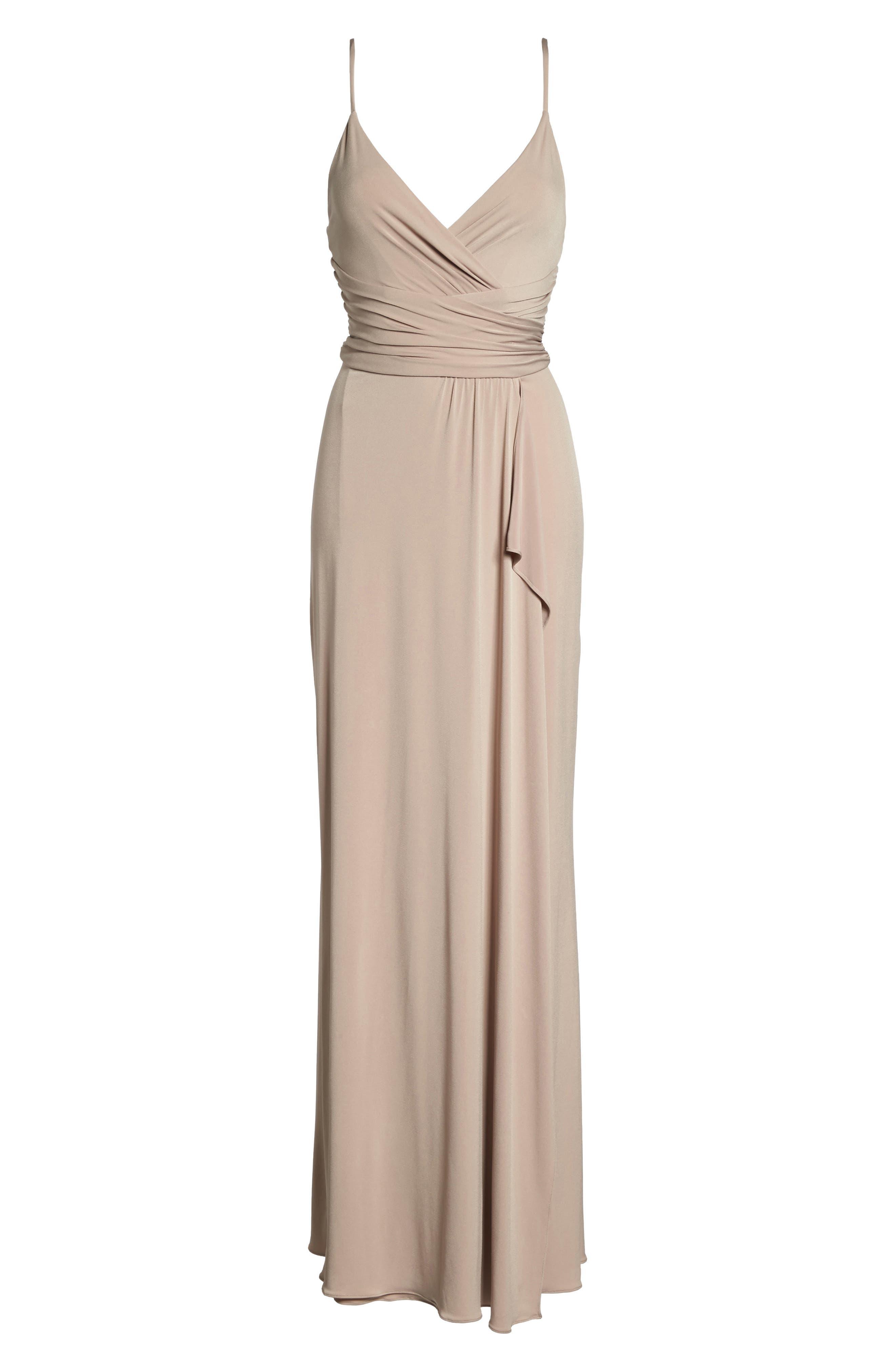 Celina Mock Wrap Gown,                             Alternate thumbnail 6, color,                             253