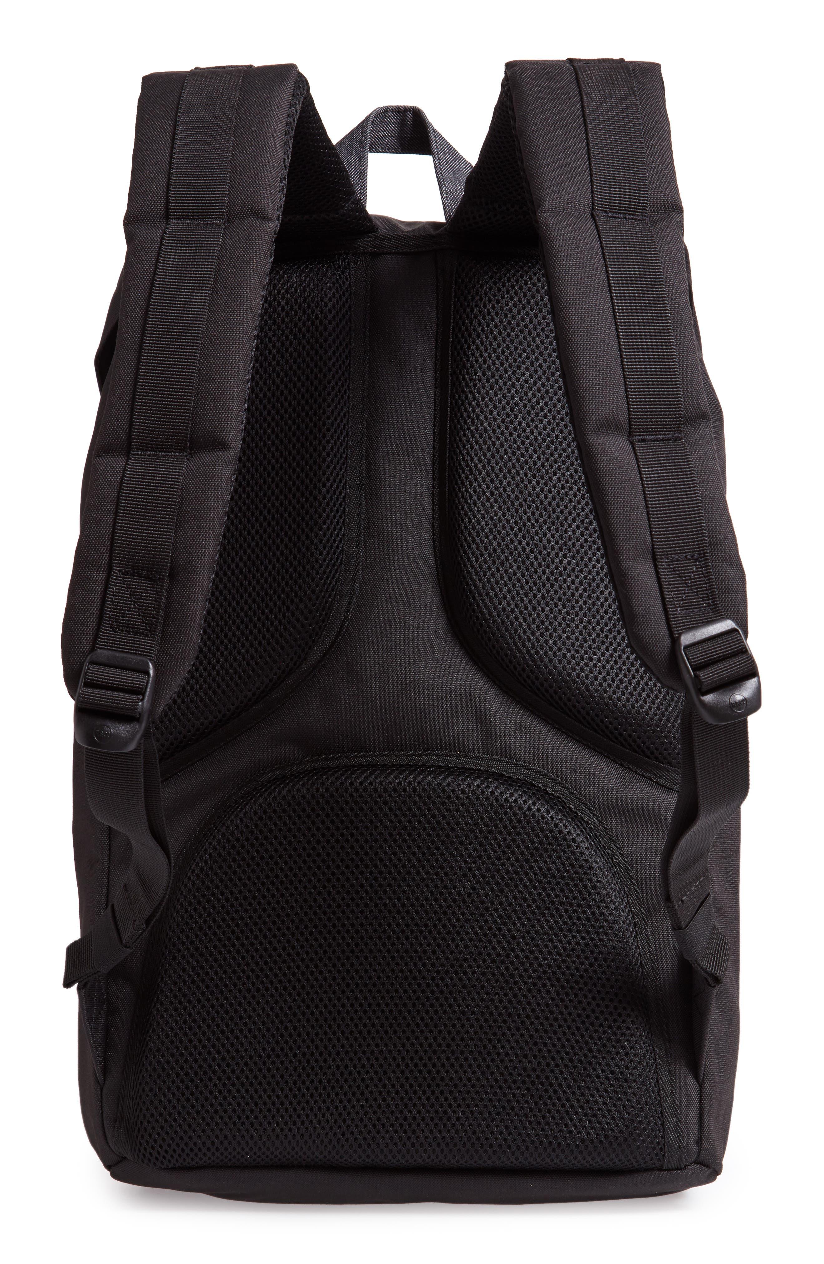 Little America Offset Backpack,                             Alternate thumbnail 3, color,                             BLACK/ BLACK DENIM