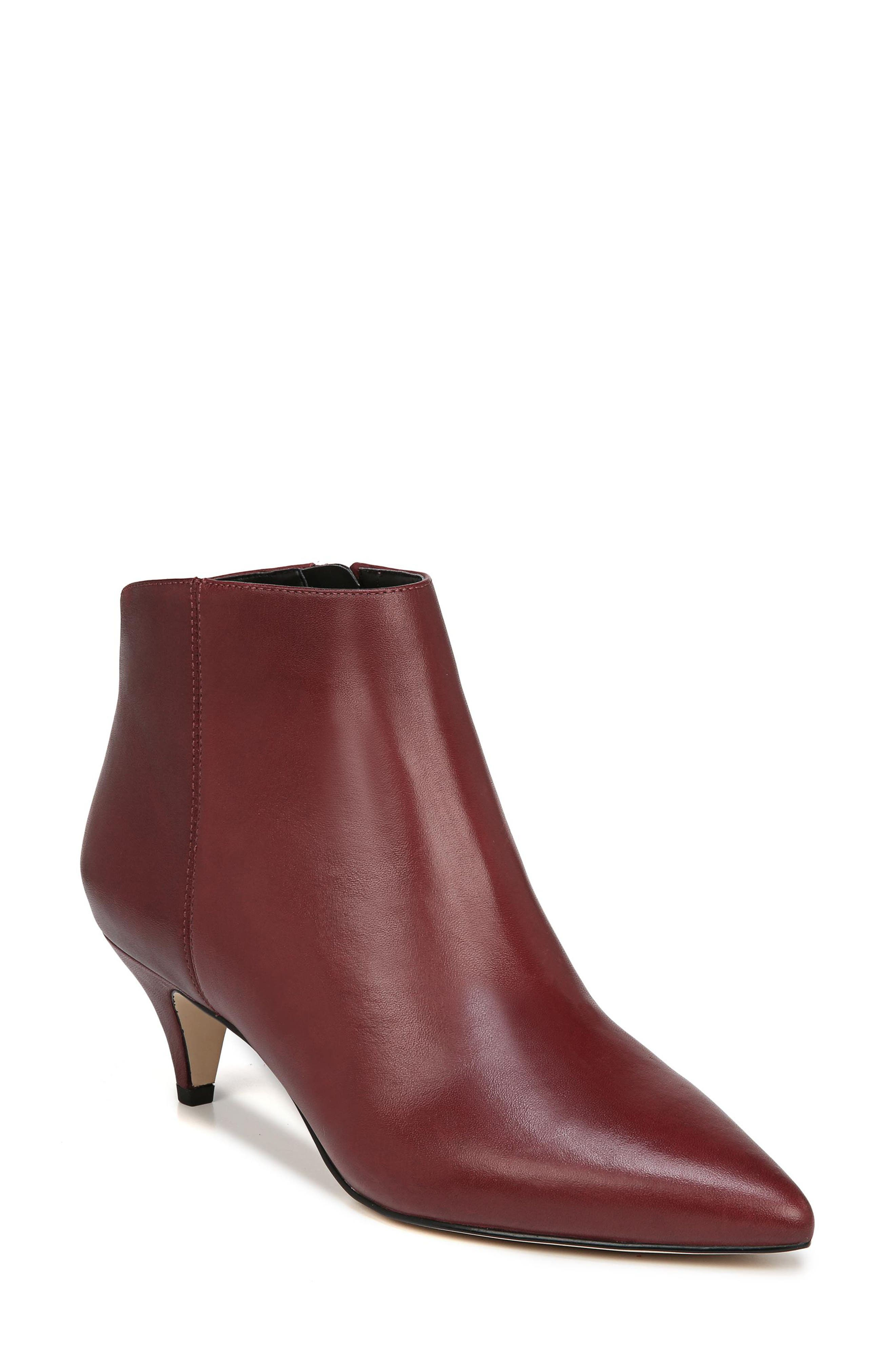 Sam Edelman Kinzey Pointy Toe Bootie, Red