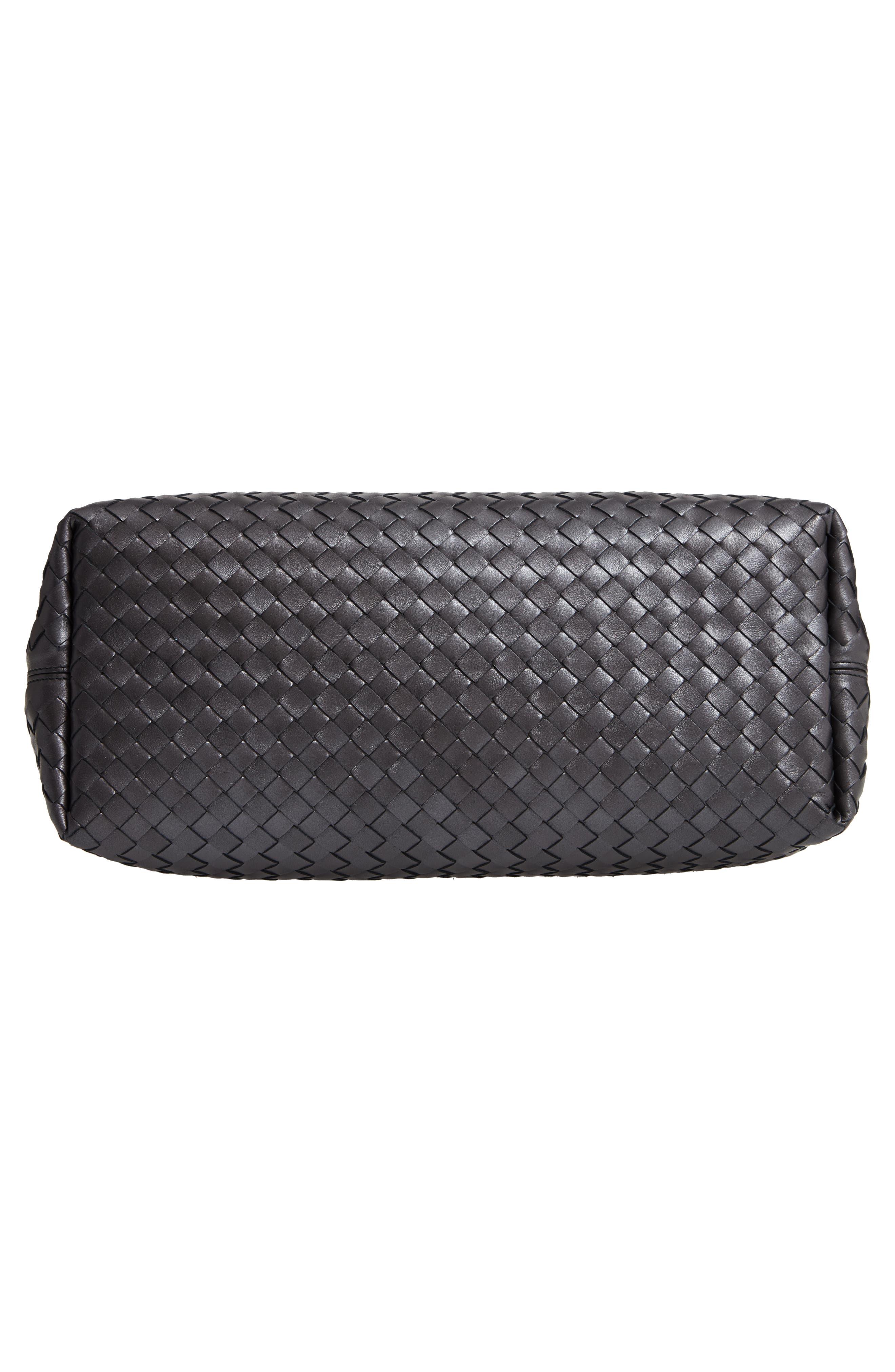 Intrecciato Leather Tote Bag,                             Alternate thumbnail 6, color,                             040