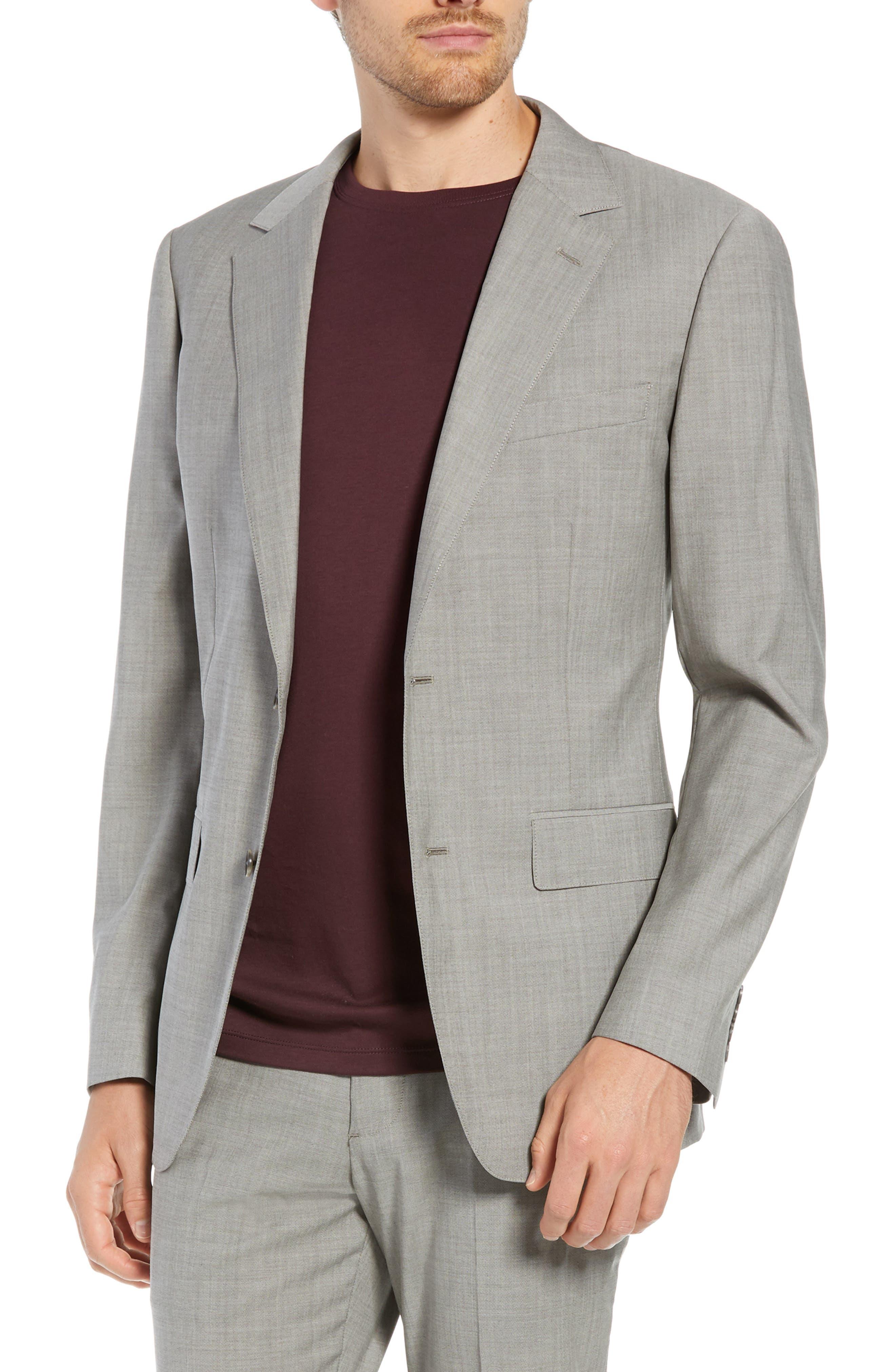 Jetsetter Slim Fit Stretch Wool Blazer,                             Main thumbnail 1, color,                             LIGHT BROWN