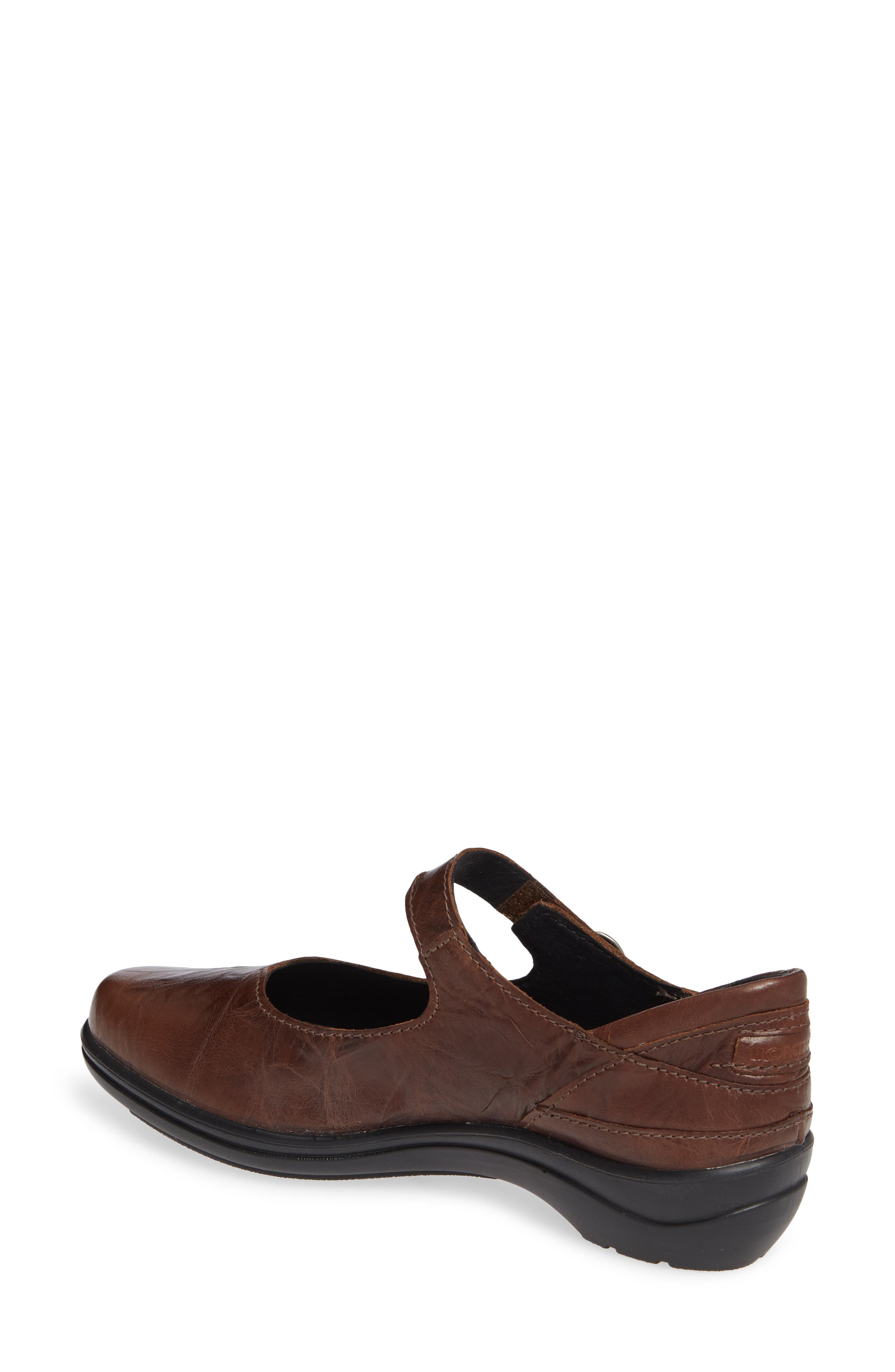 Cassie 50 Mary Jane Flat,                             Alternate thumbnail 2, color,                             BROWN LEATHER