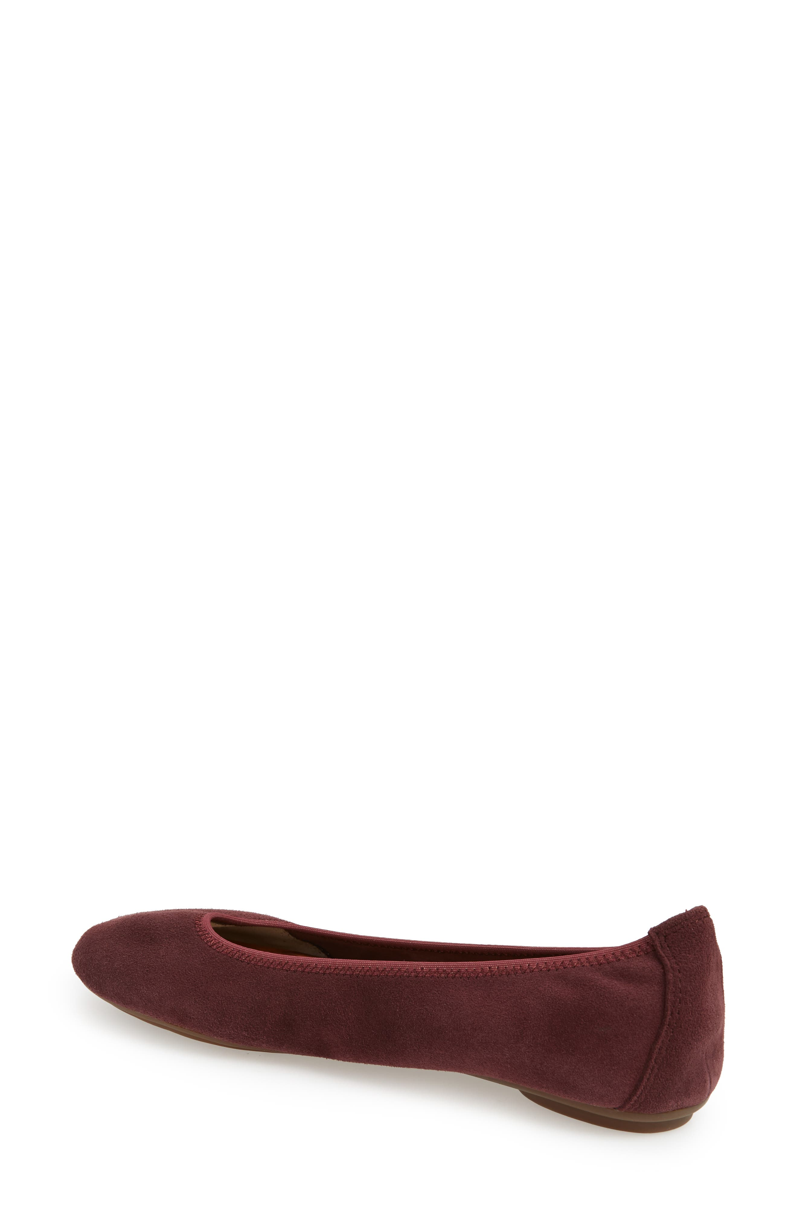 'Chaste' Ballet Flat,                             Alternate thumbnail 2, color,                             DARK WINE SUEDE