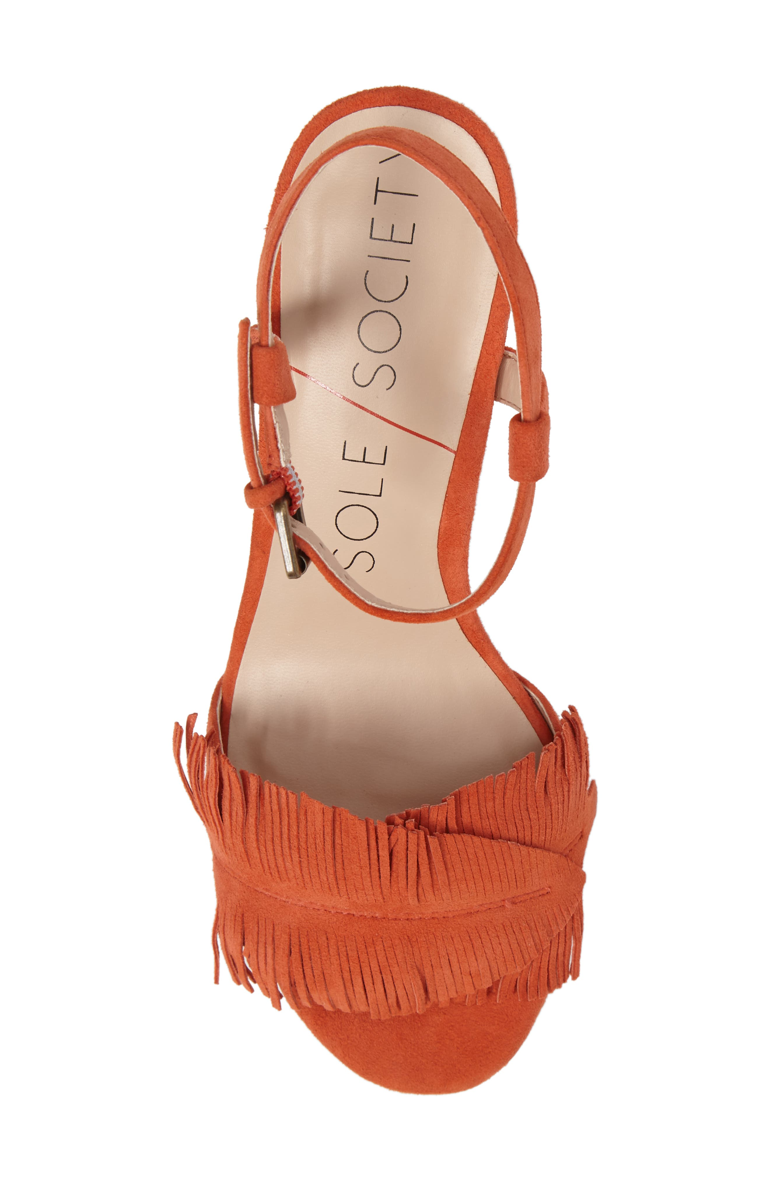 Sepia Fringe Sandal,                             Alternate thumbnail 15, color,