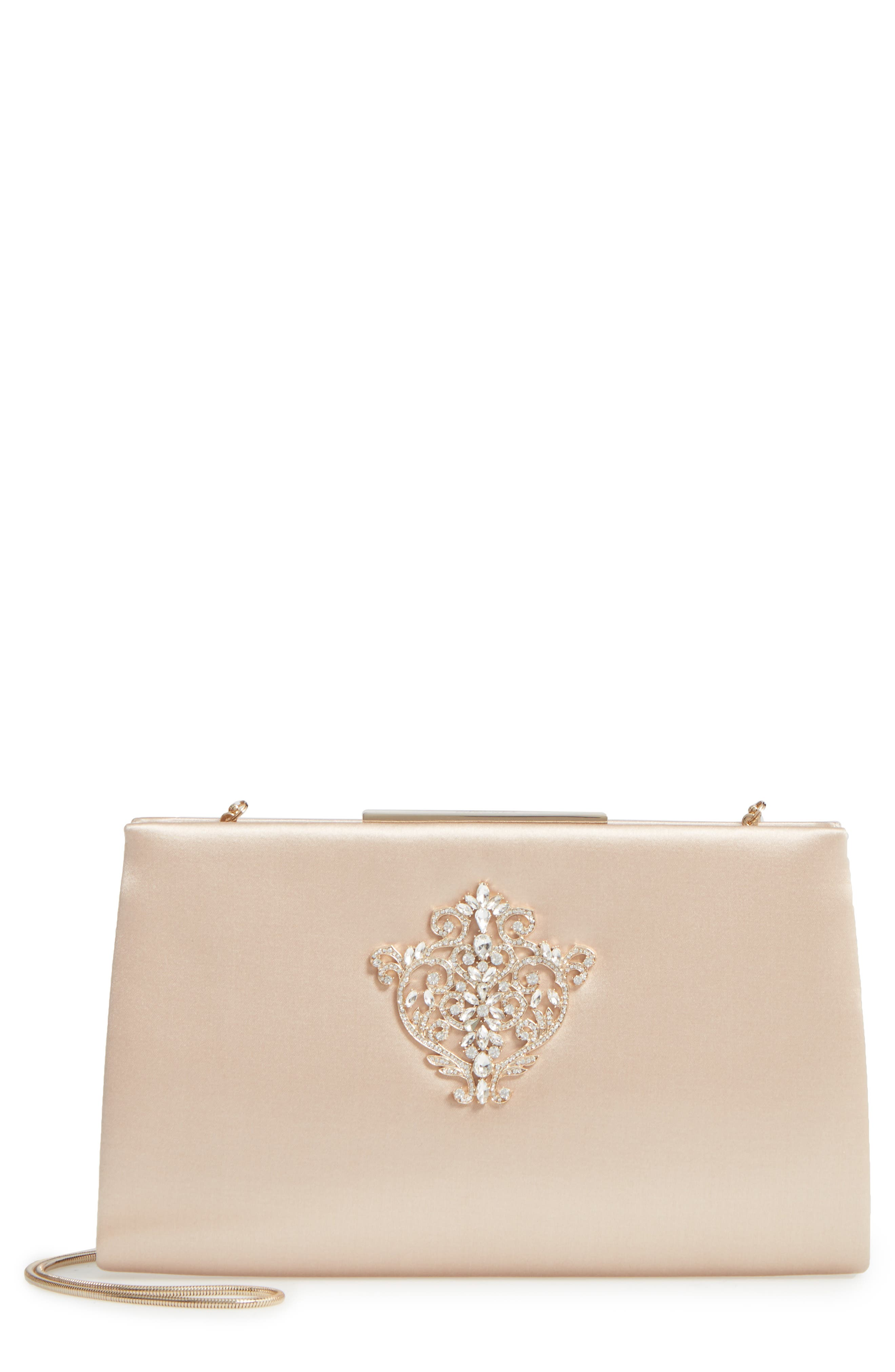 Dare Satin Clutch,                             Main thumbnail 2, color,