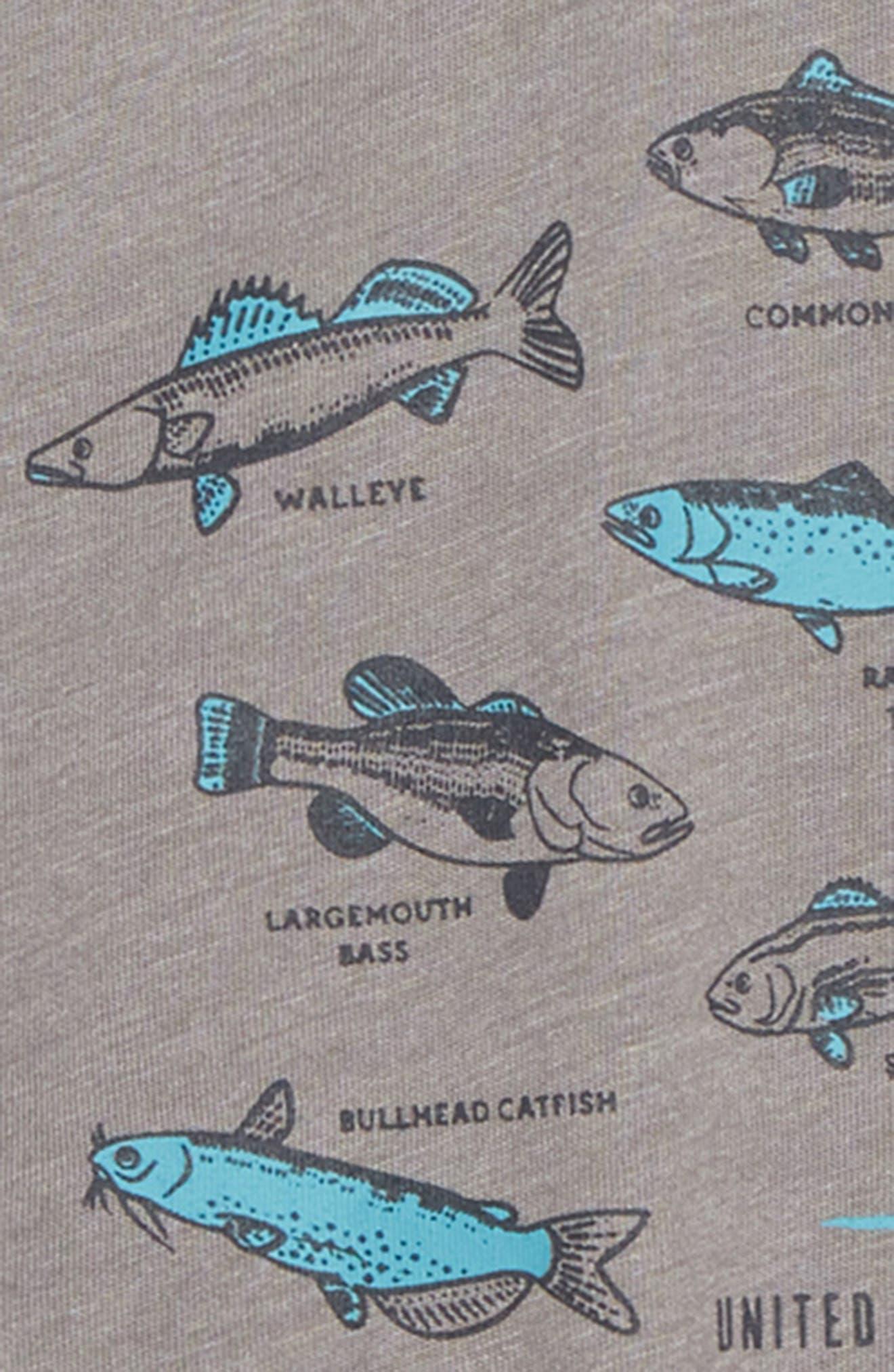 Go Fish T-Shirt,                             Alternate thumbnail 2, color,                             STEEL GREY