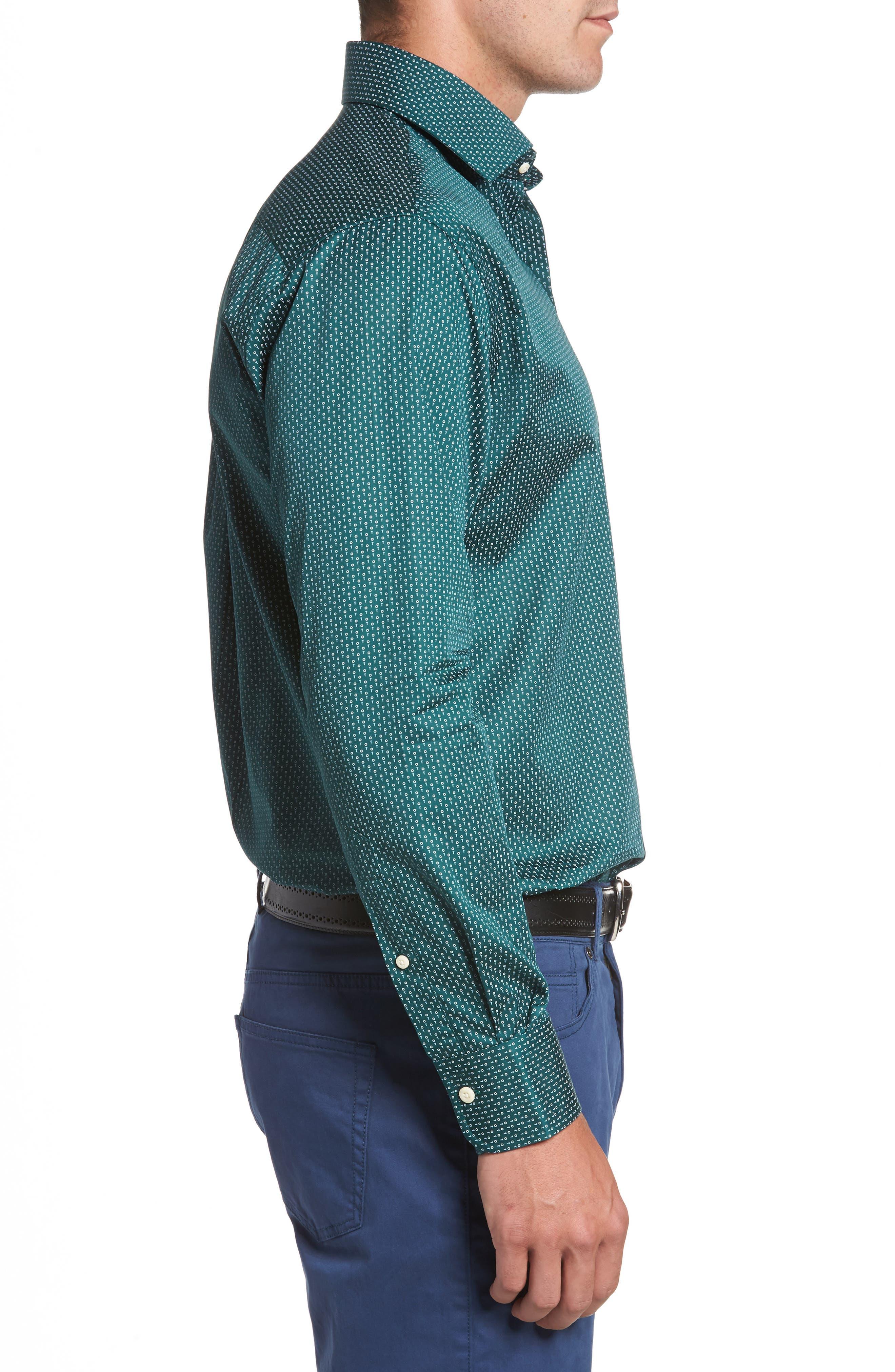 Golf Tee Print Sport Shirt,                             Alternate thumbnail 3, color,