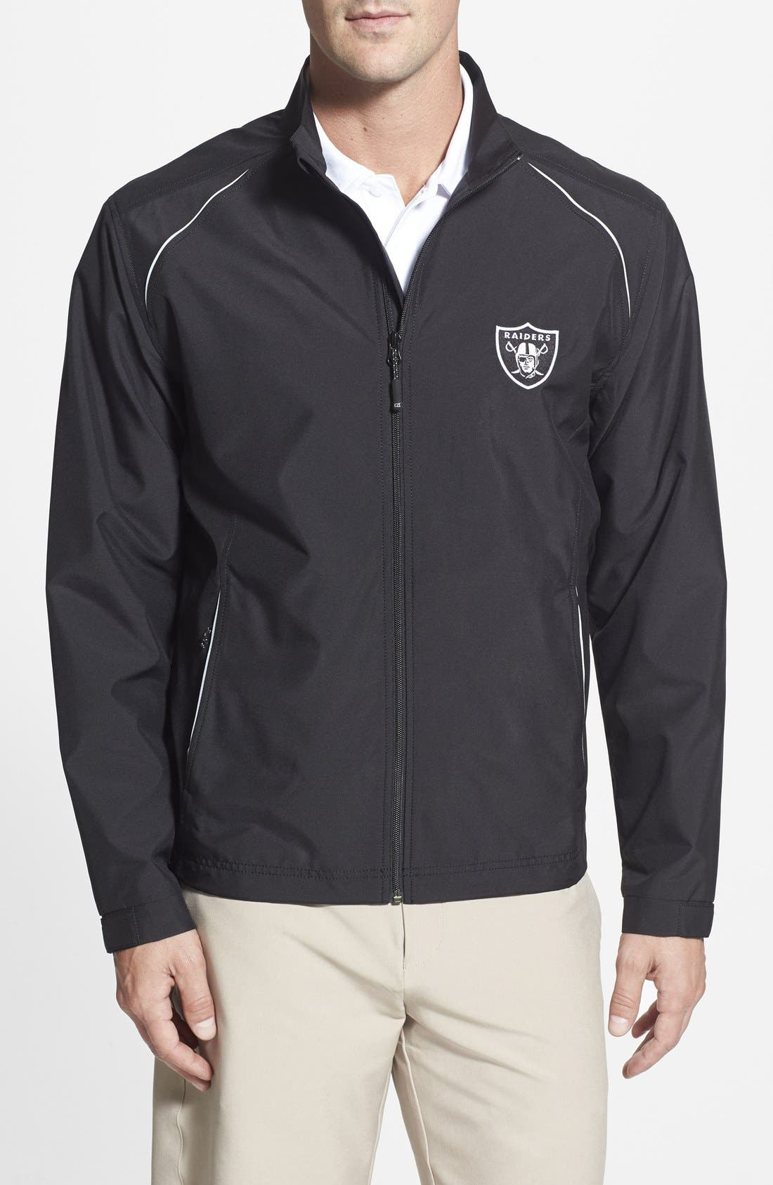 Oakland Raiders - Beacon WeatherTec Wind & Water Resistant Jacket,                             Main thumbnail 1, color,                             001