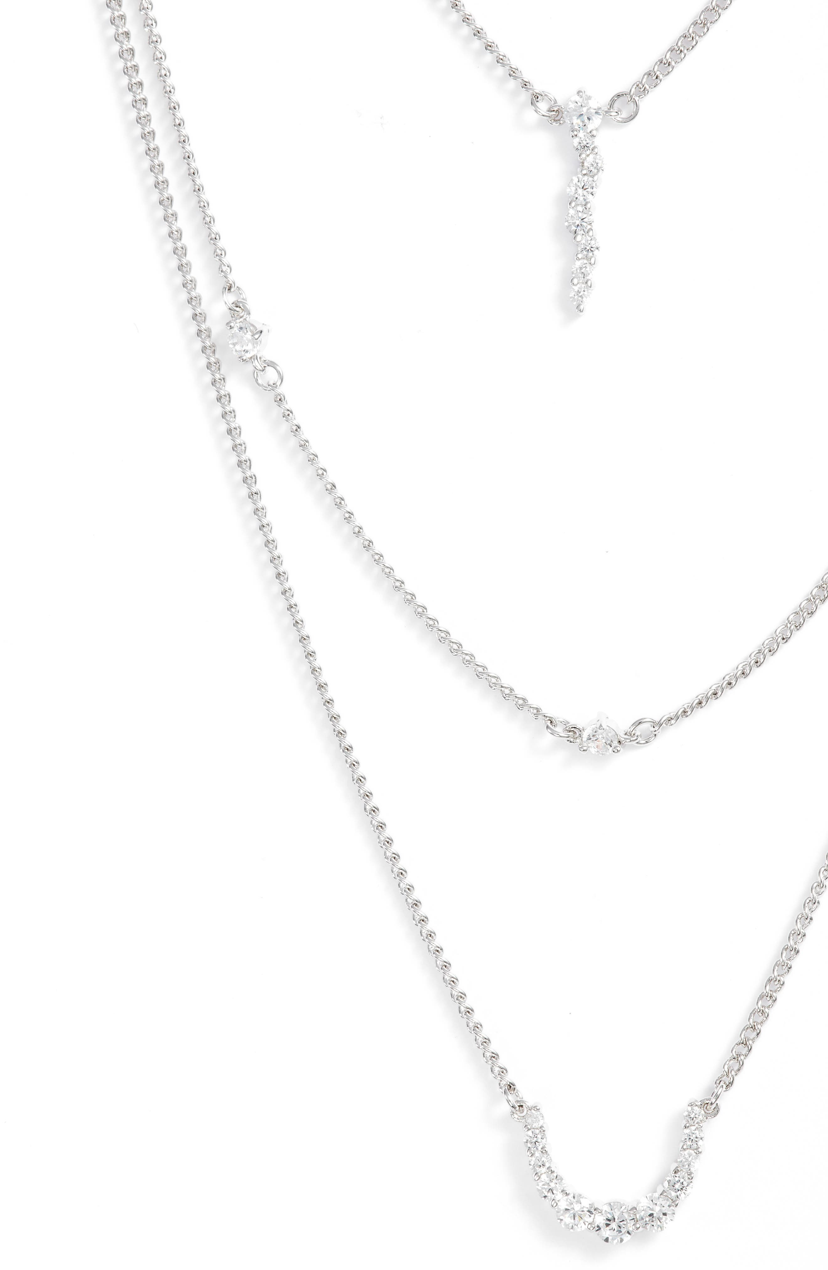 Sterling Silver Faye Layered Necklace,                             Alternate thumbnail 2, color,                             SILVER
