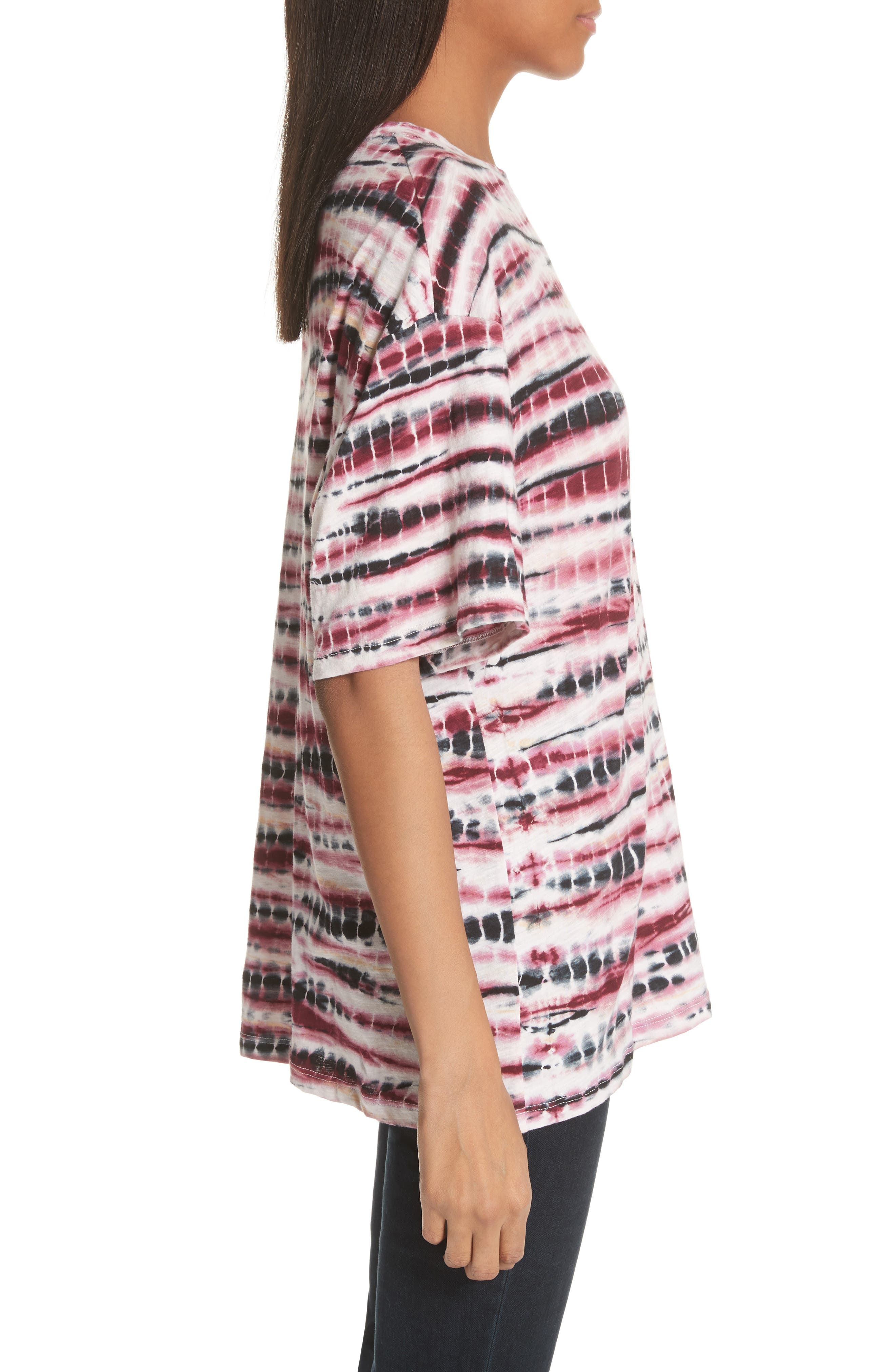 PROENZA SCHOULER,                             Tie Dye Tissue Jersey Tee,                             Alternate thumbnail 3, color,                             930