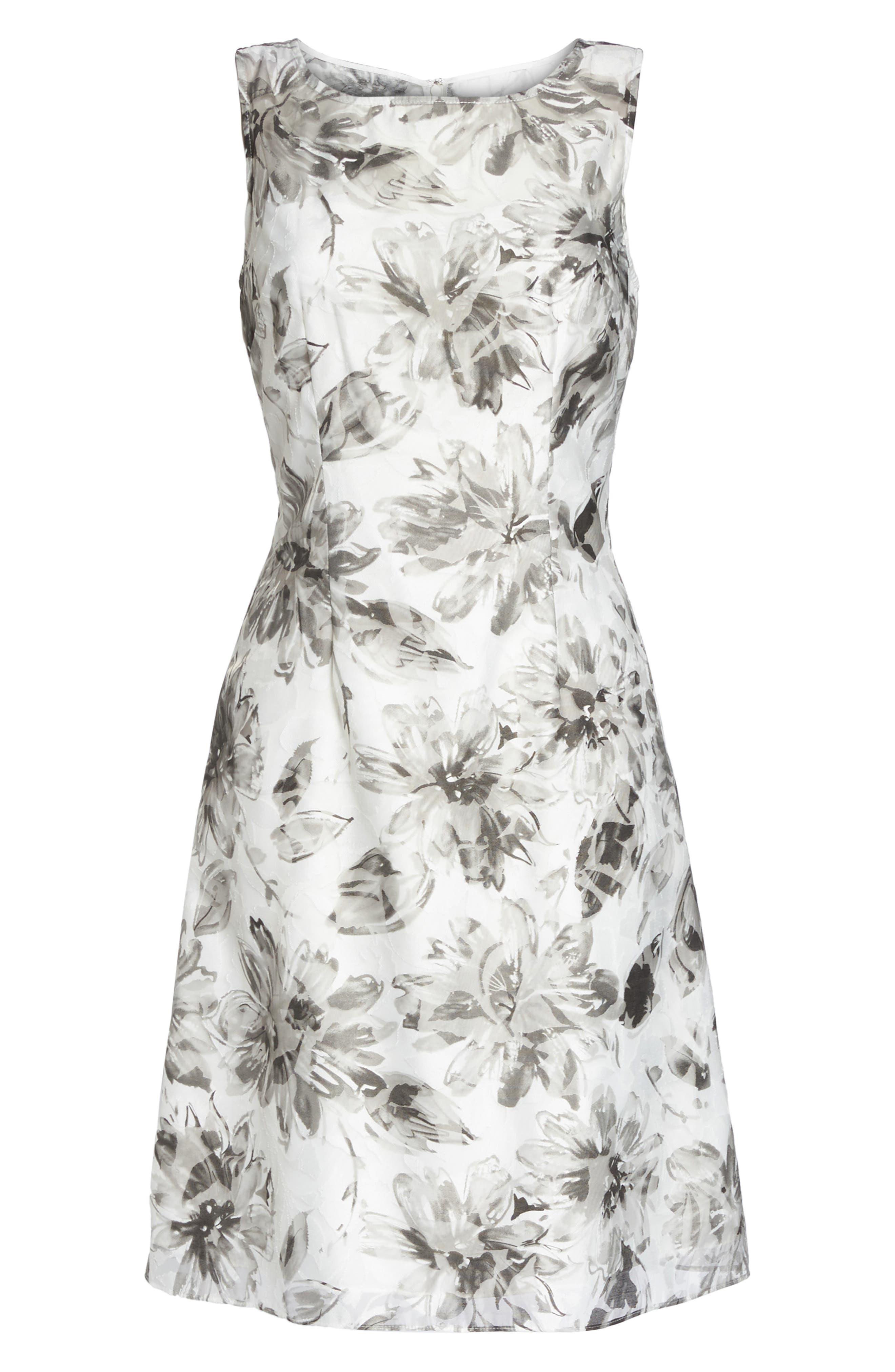 Burnout A-Line Dress,                             Alternate thumbnail 6, color,                             160