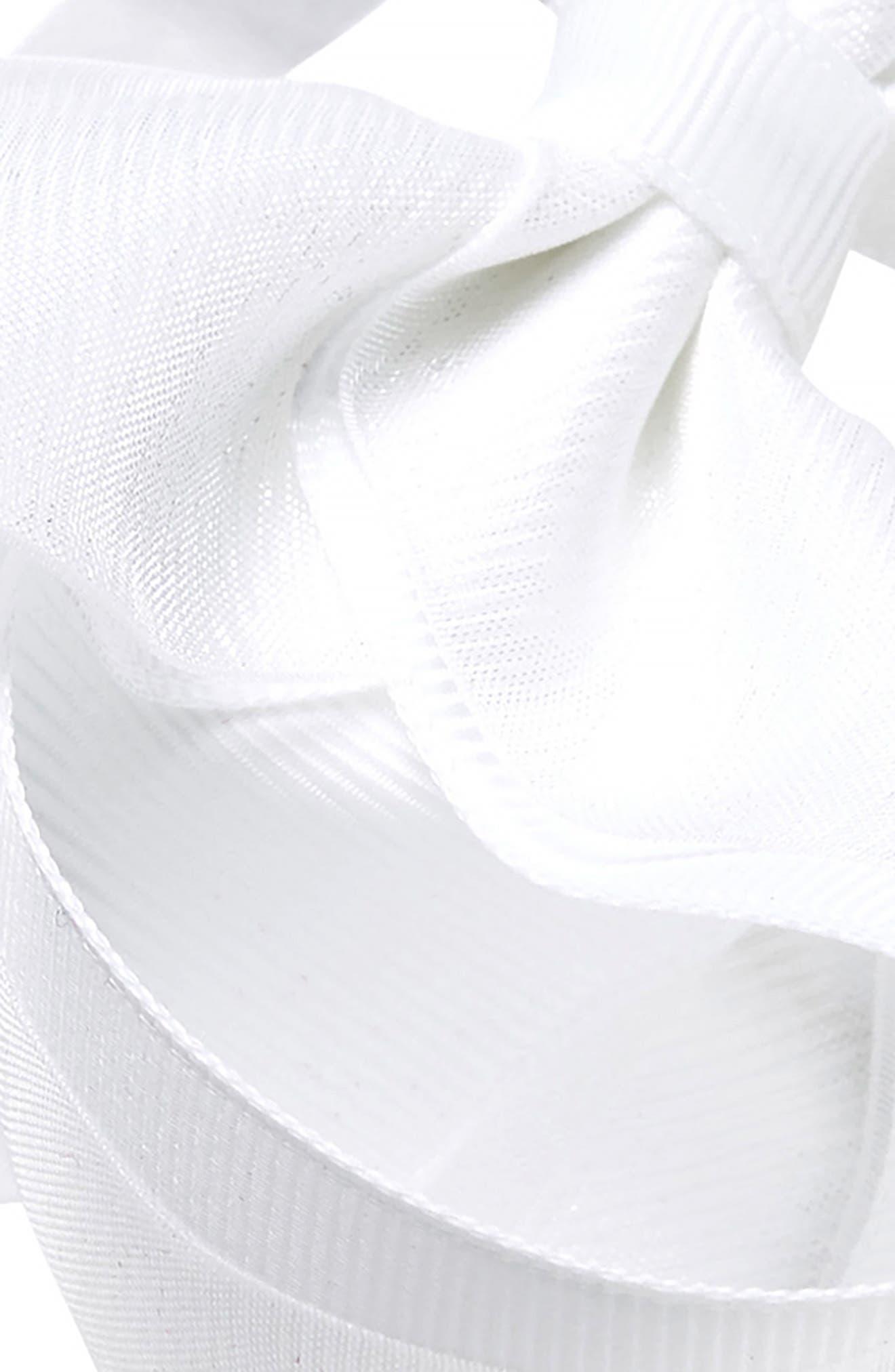Elastic Organza Bow Headband,                             Alternate thumbnail 3, color,                             WHITE