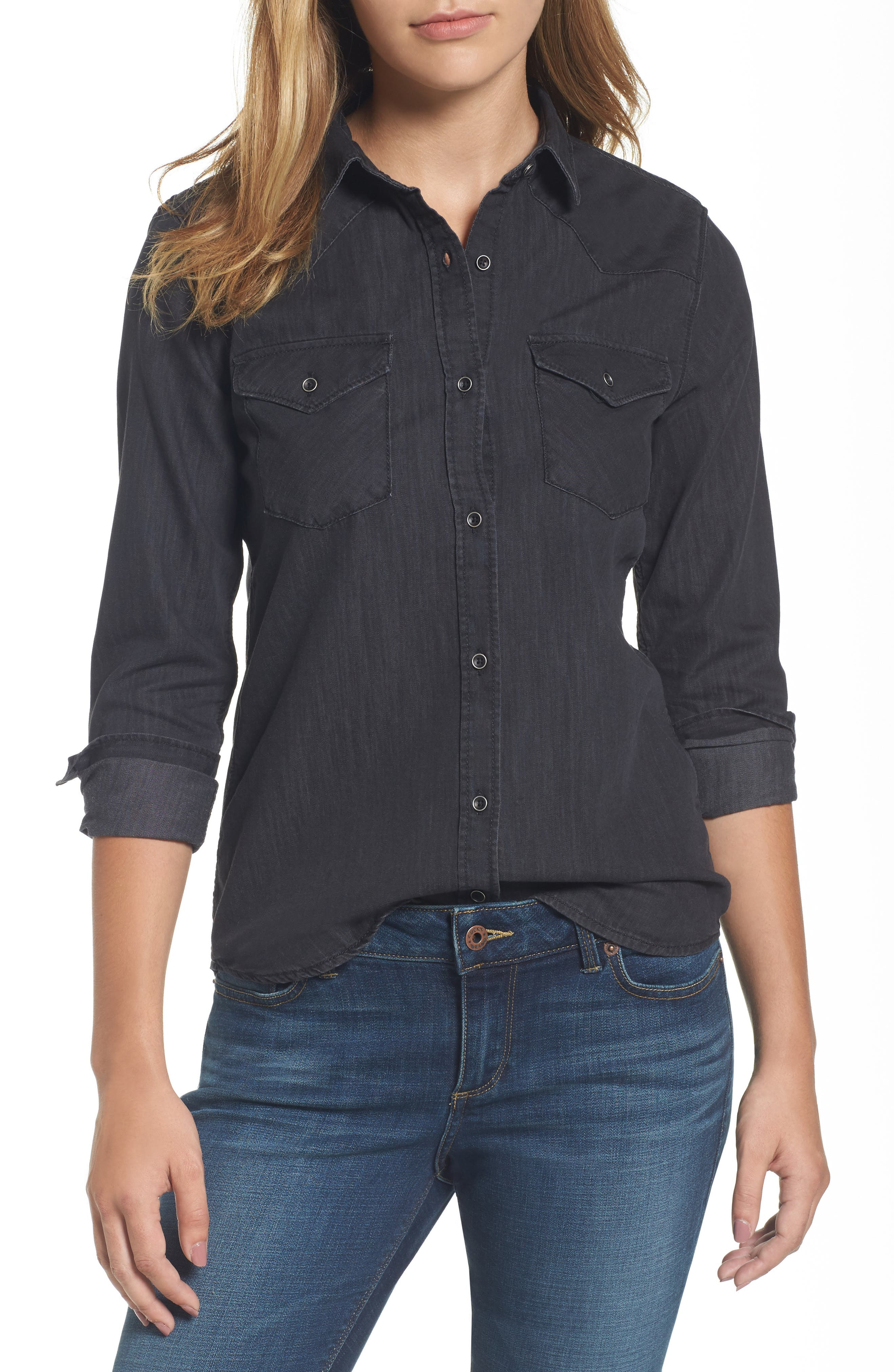 Isabel Denim Shirt,                         Main,                         color,