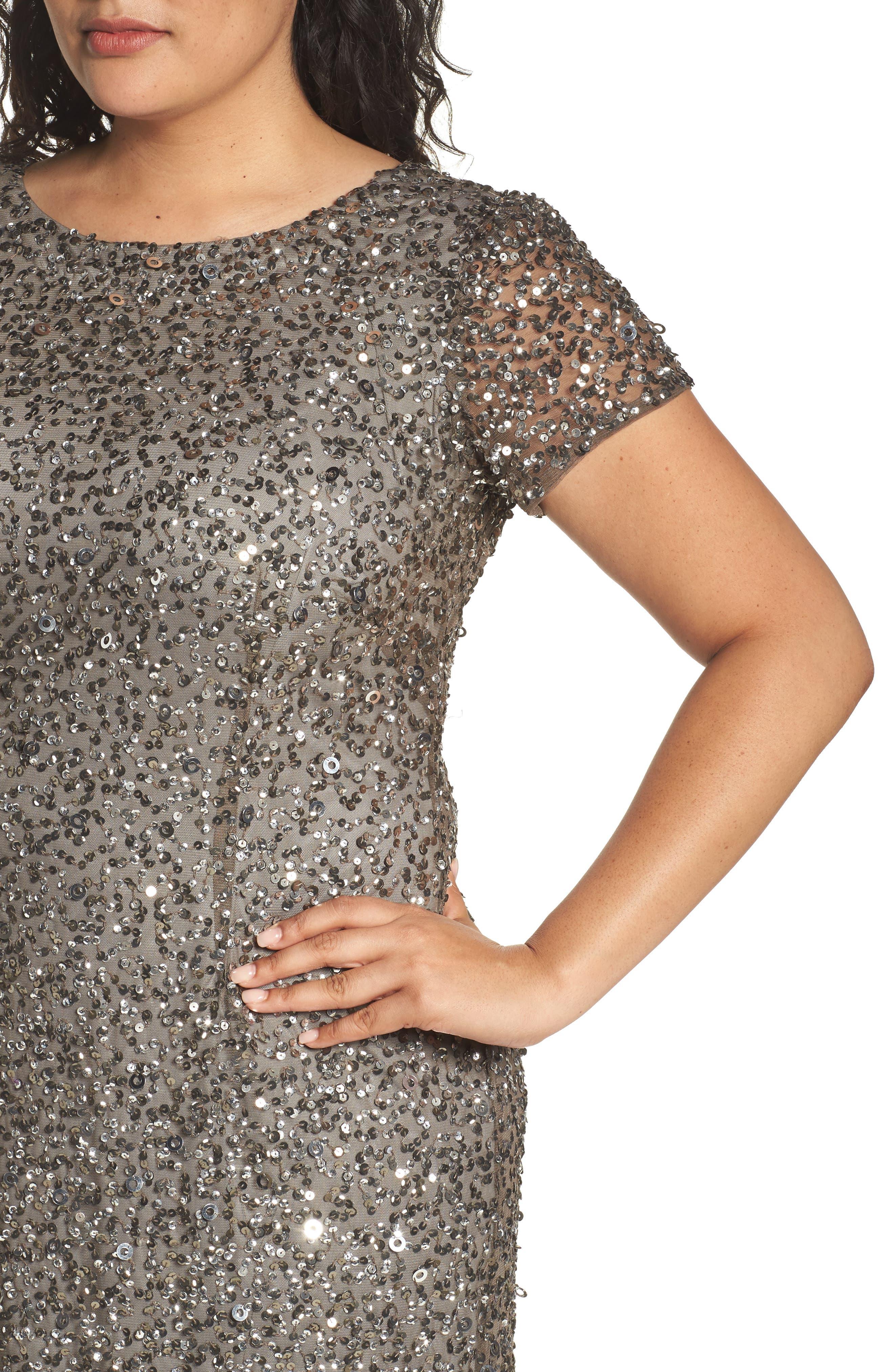 Embellished Scoop Back Gown,                             Alternate thumbnail 4, color,                             050