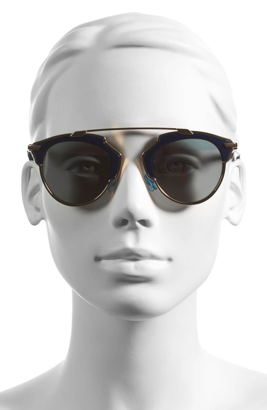 So Real 48mm Brow Bar Sunglasses,                             Alternate thumbnail 49, color,