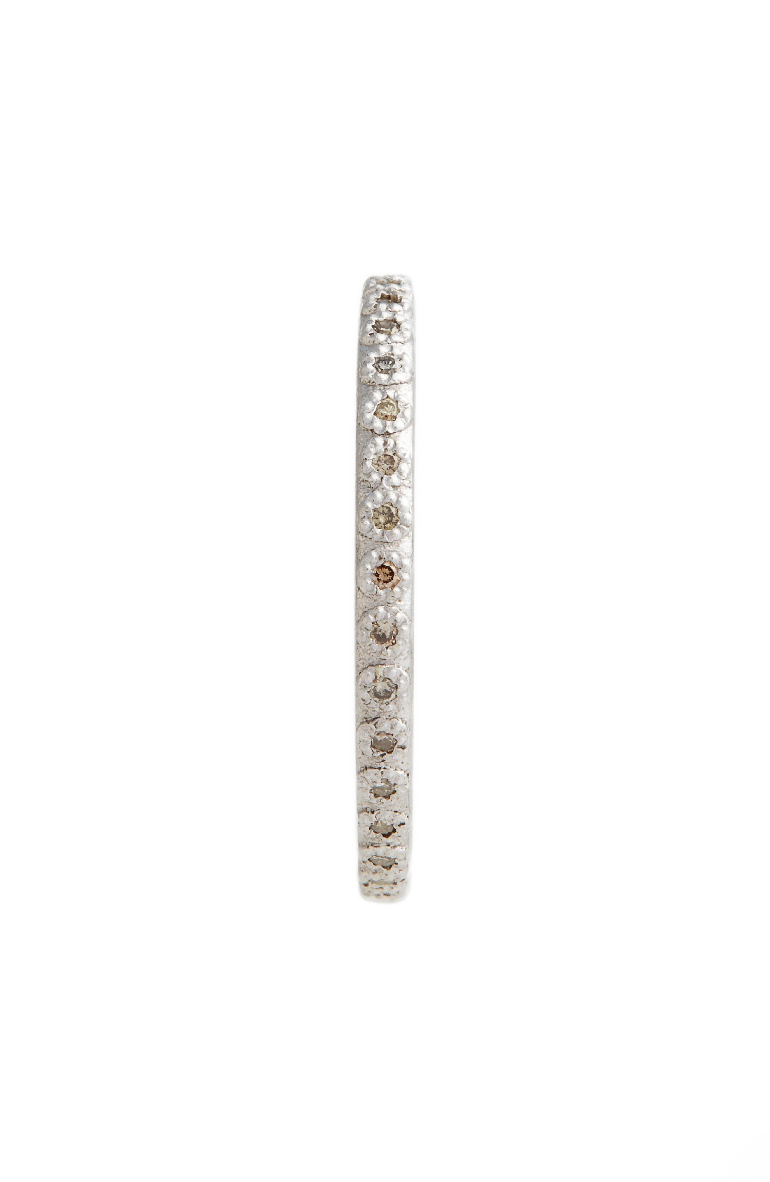 New World Silver Champagne Diamond Stacking Ring,                             Alternate thumbnail 2, color,                             SILVER