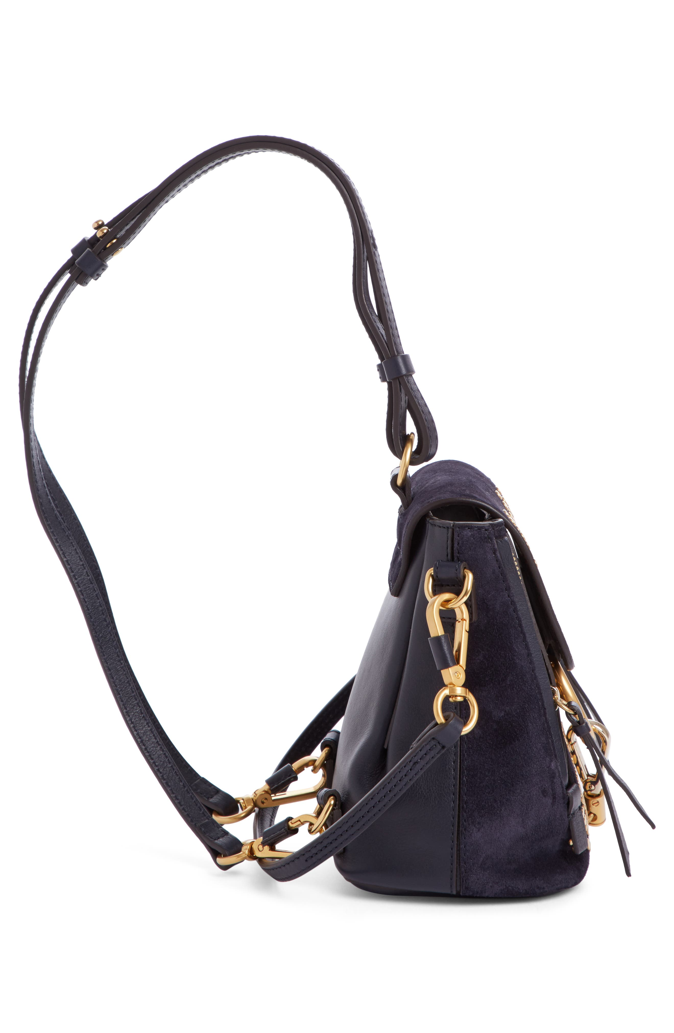 Mini Faye Studded Leather Backpack,                             Alternate thumbnail 3, color,                             412