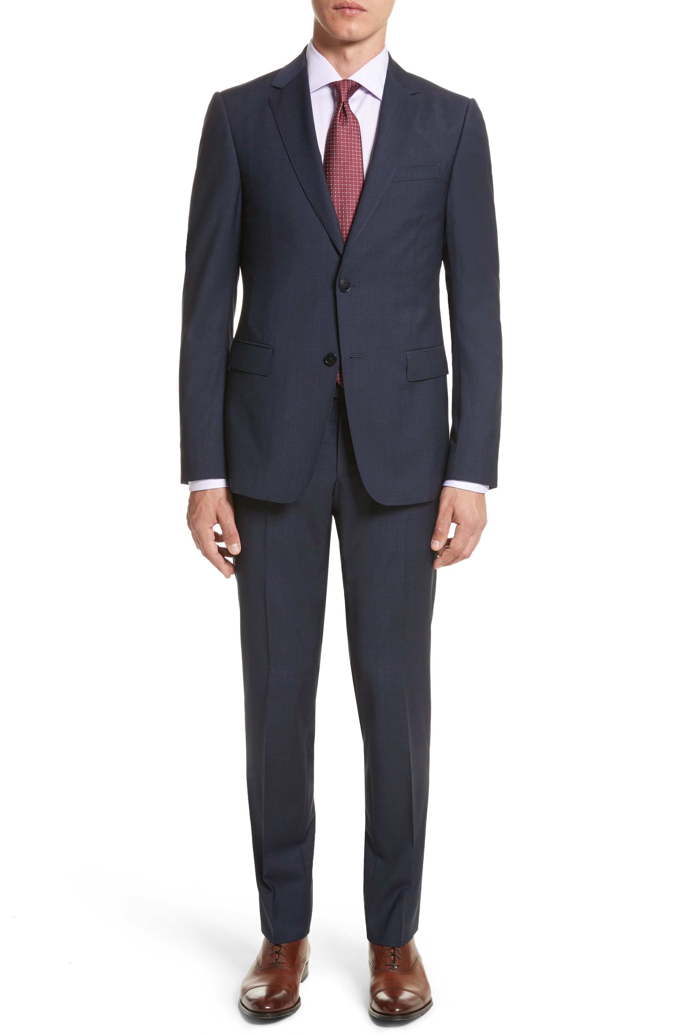 Classic Fit Check Wool Suit,                         Main,                         color, 416