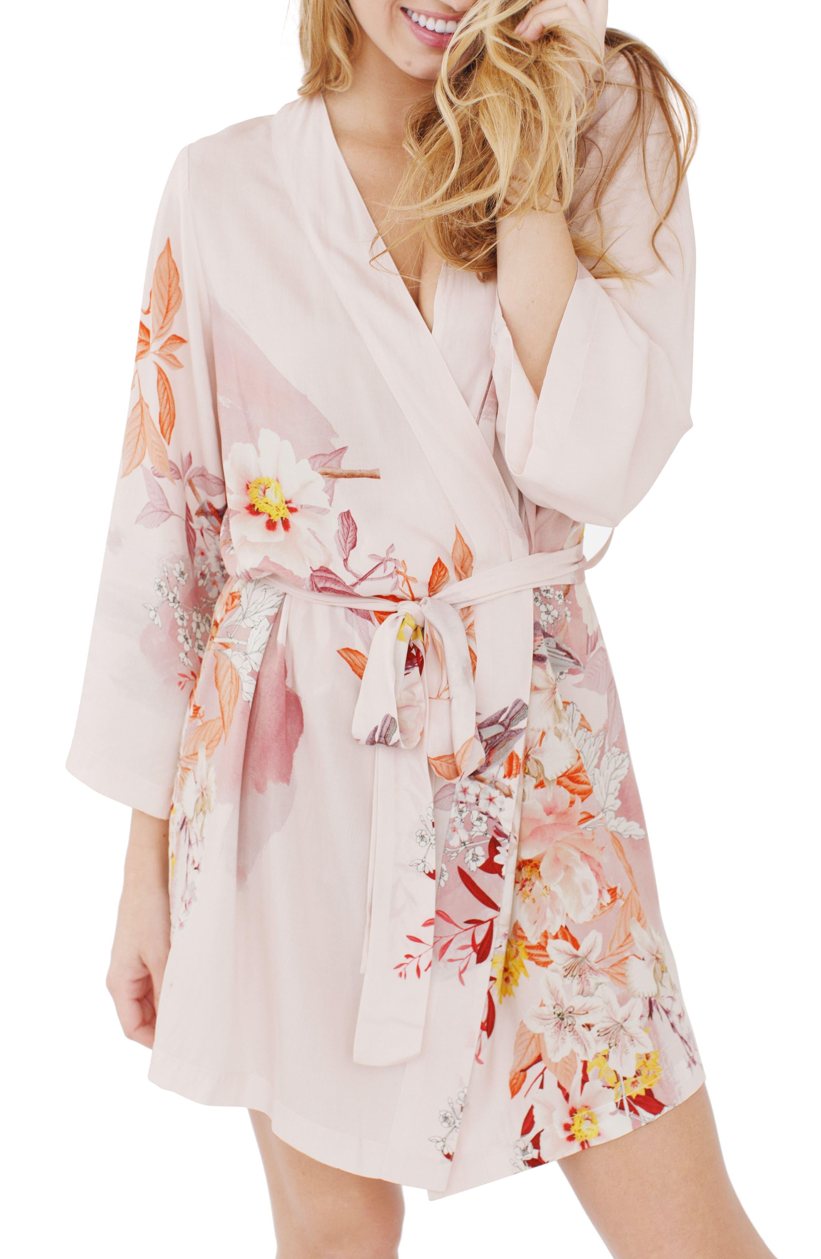 Floral Kimono Robe,                             Alternate thumbnail 2, color,                             680