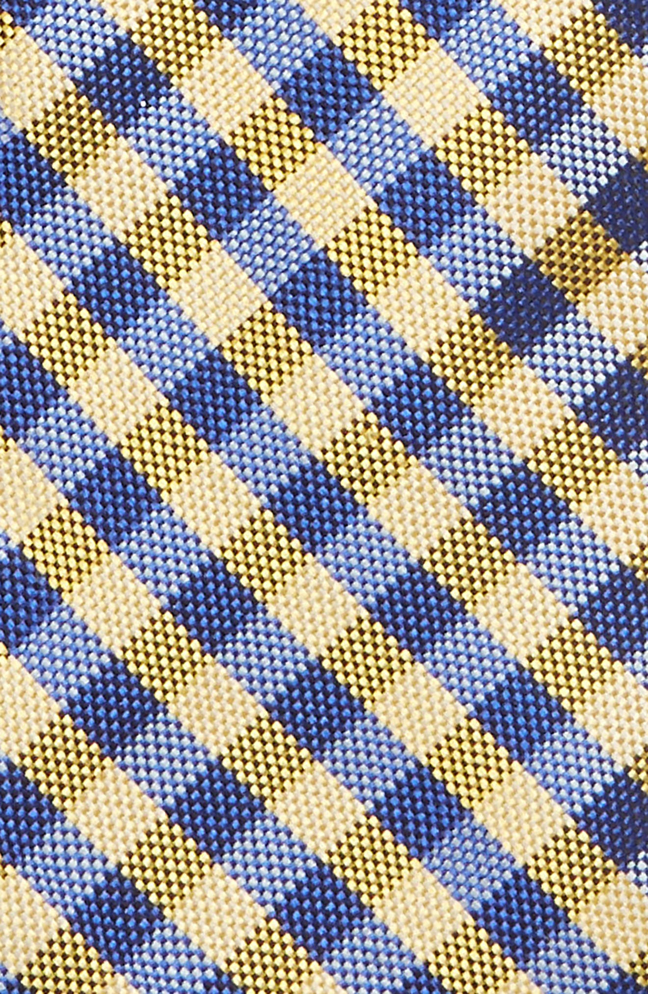 Check Silk Tie,                             Alternate thumbnail 2, color,                             YELLOW