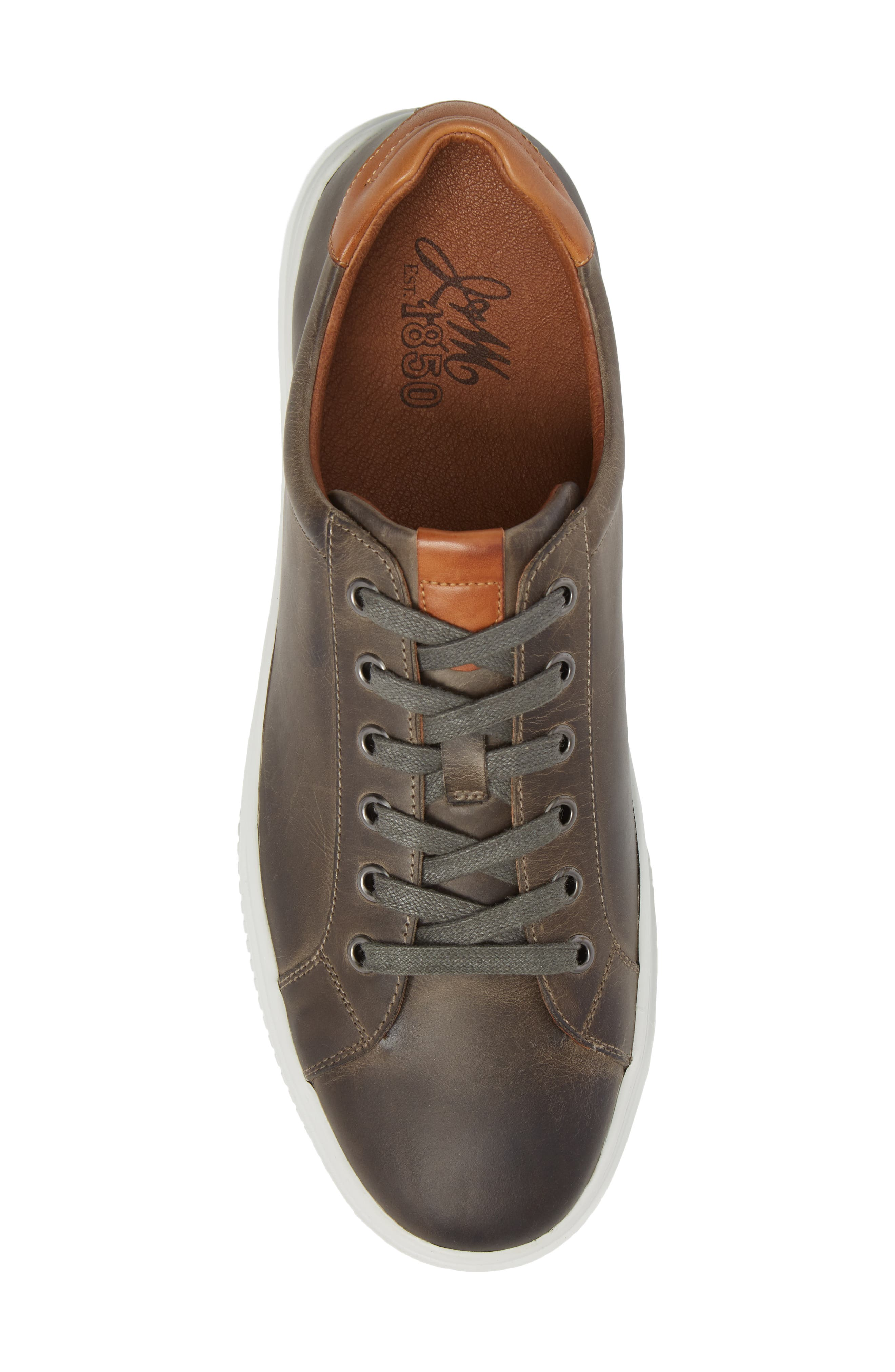 Toliver Low Top Sneaker,                             Alternate thumbnail 5, color,                             GREY LEATHER