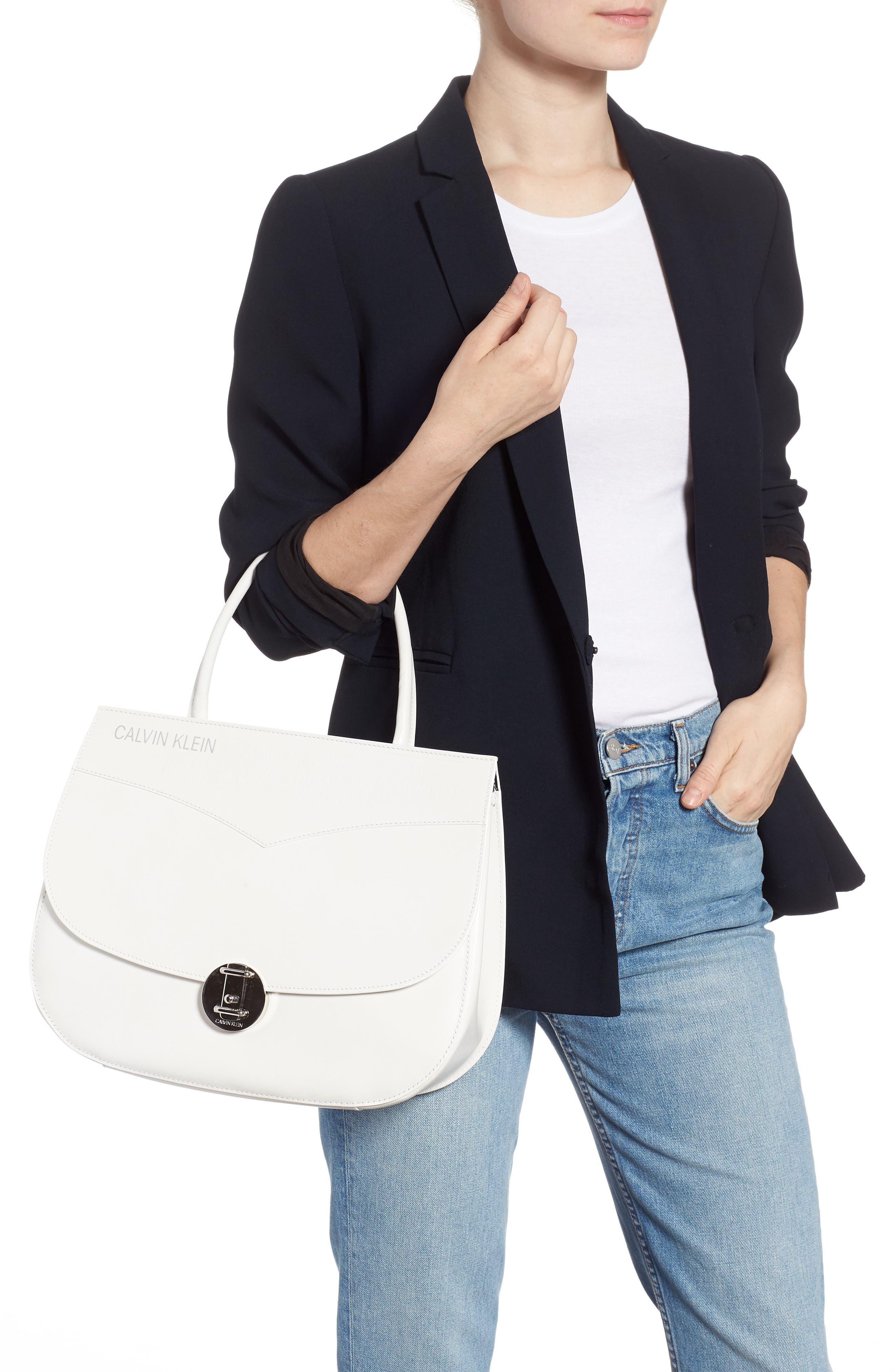 Top Handle Round Lock Shoulder Bag,                             Alternate thumbnail 2, color,                             101