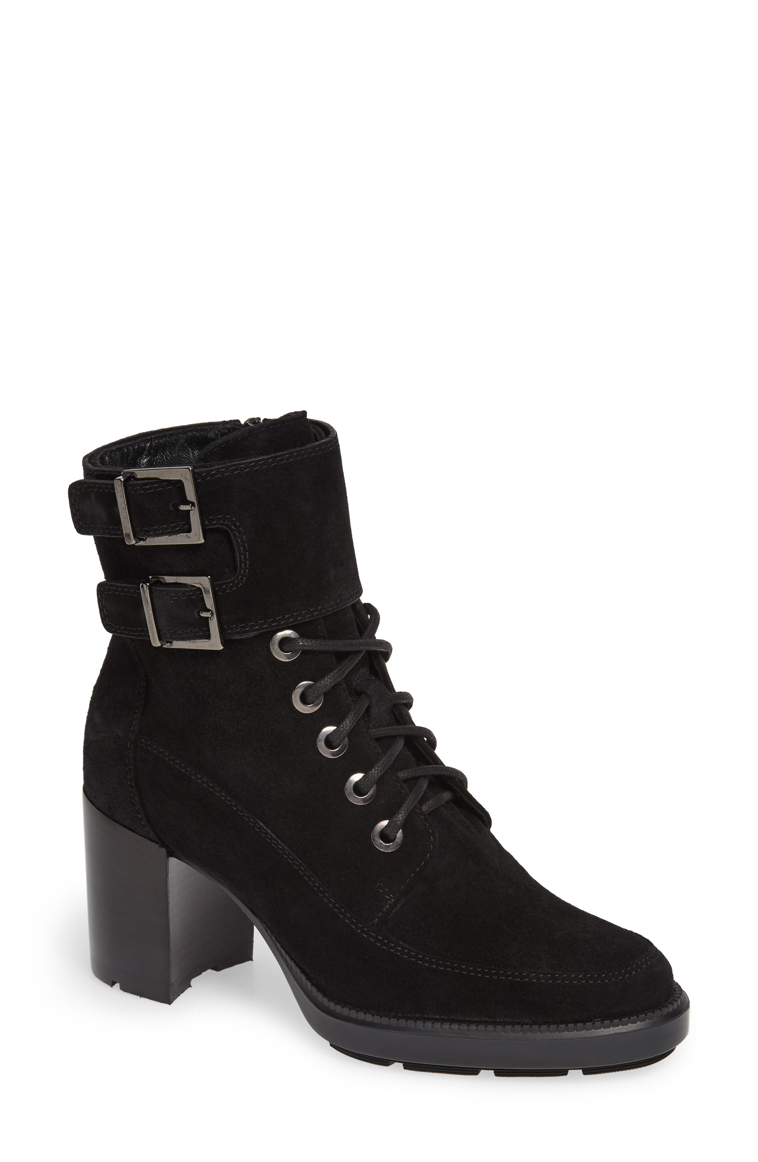 AQUATALIA Irene Suede Stitched Booties in Black