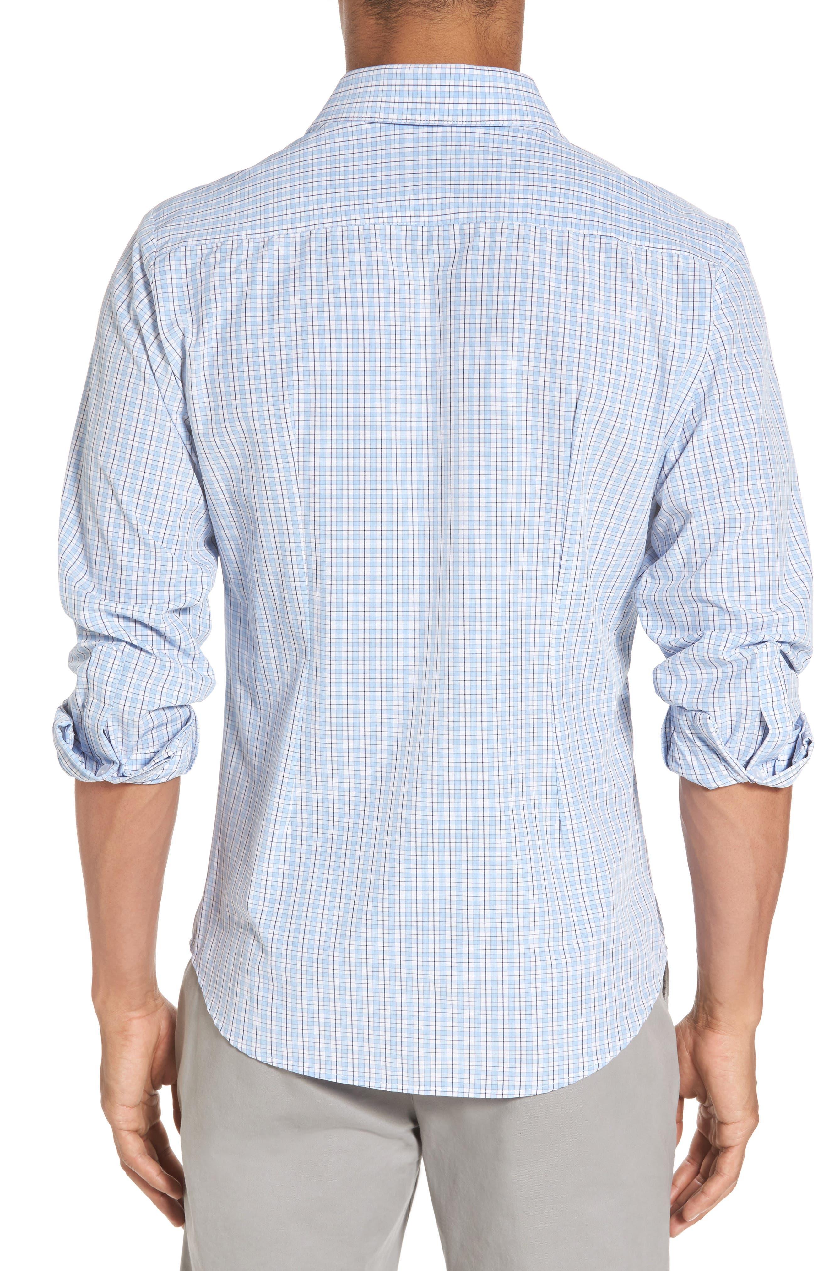 Benson Check Sport Shirt,                             Alternate thumbnail 2, color,                             400