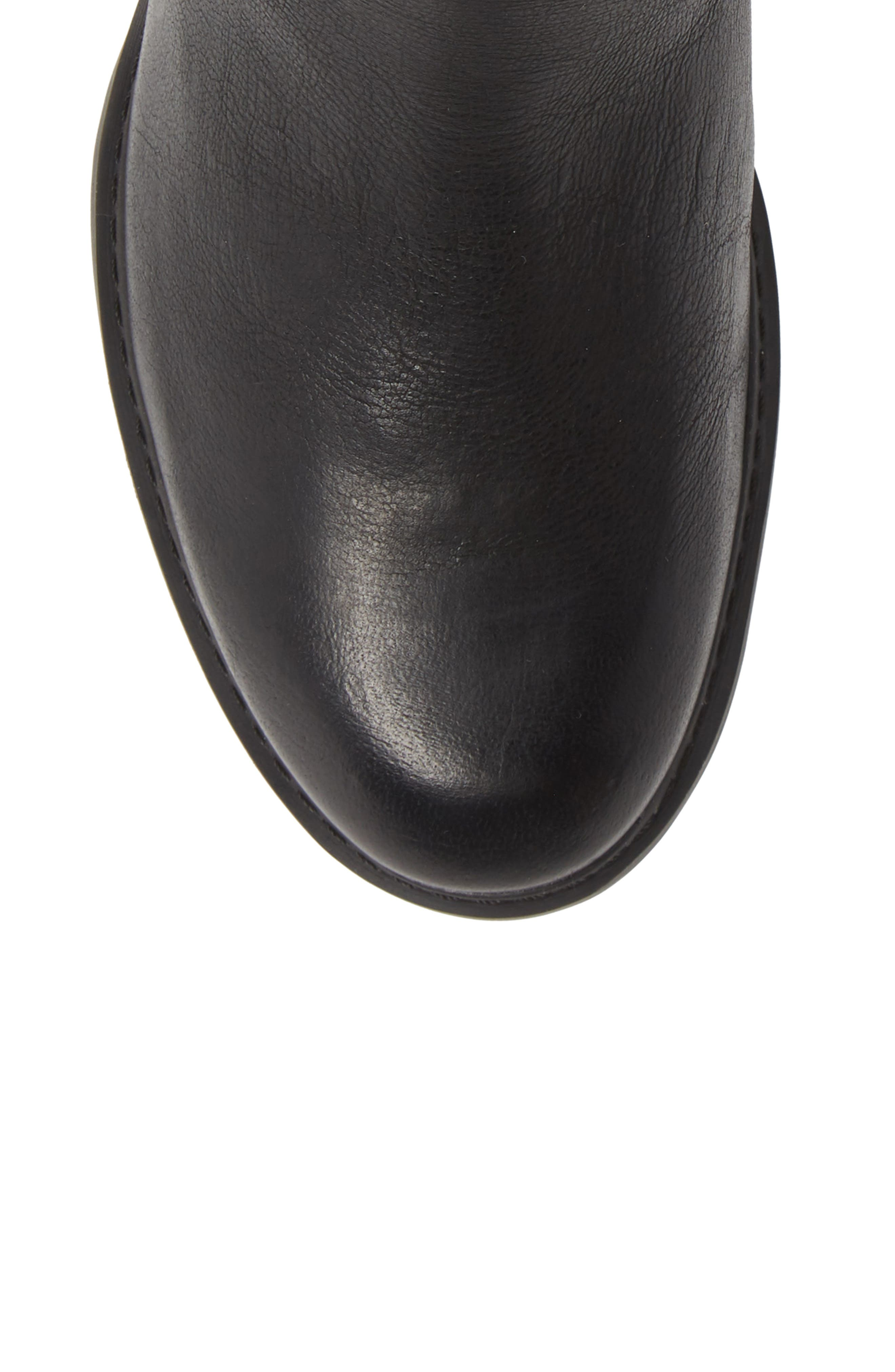 Sutherlin Bay Water Resistant Bootie,                             Alternate thumbnail 5, color,                             JET BLACK LEATHER