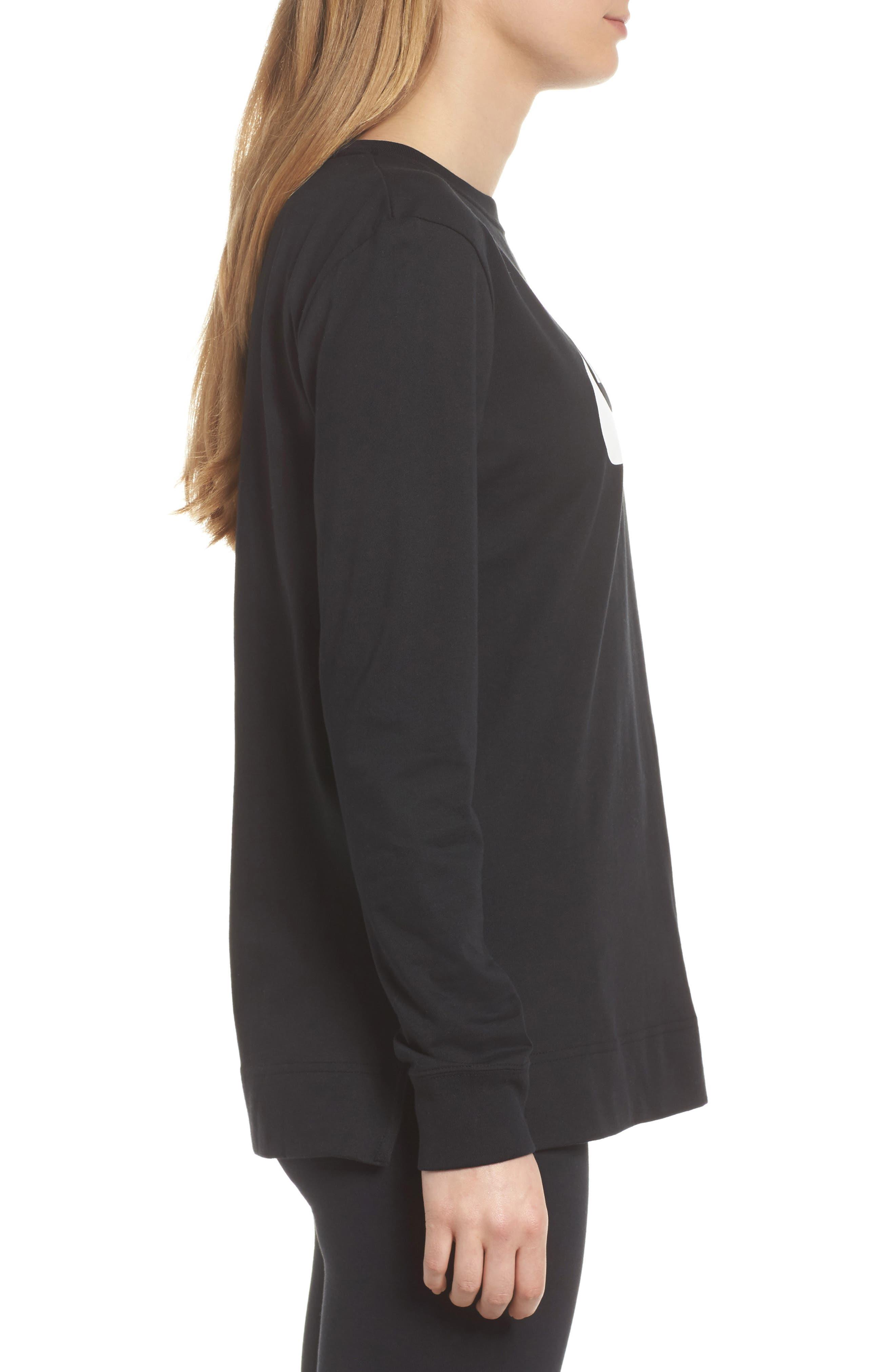 Sportswear HBR Women's Long Sleeve Tee,                             Alternate thumbnail 6, color,                             010