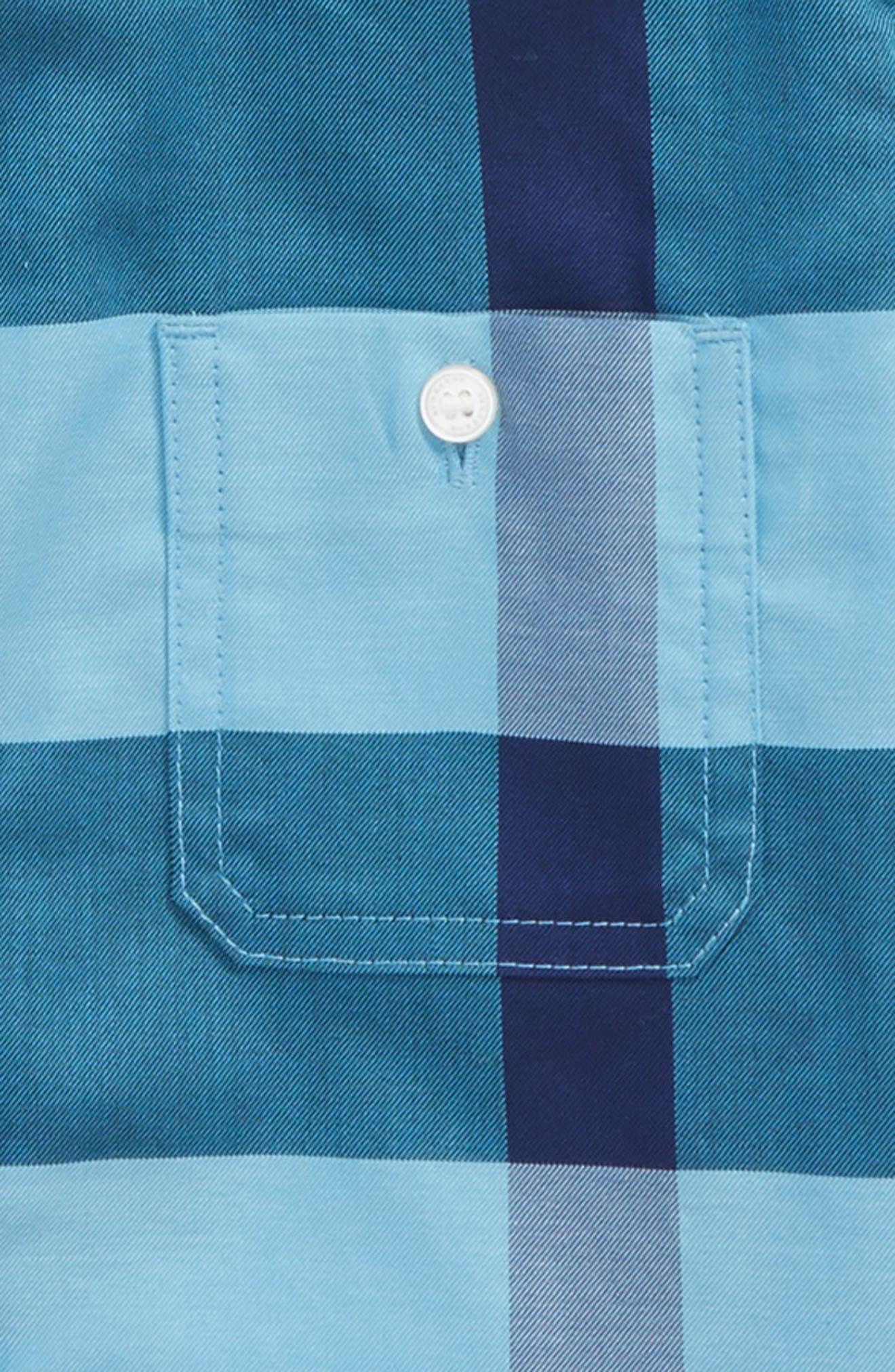 Mini Camber Check Shirt,                             Alternate thumbnail 4, color,
