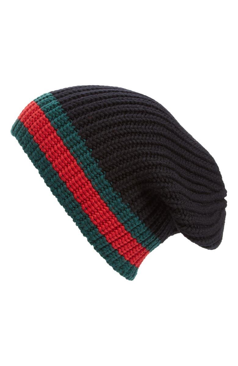 18dc4d7a1ed Gucci Stripe Wool Beanie
