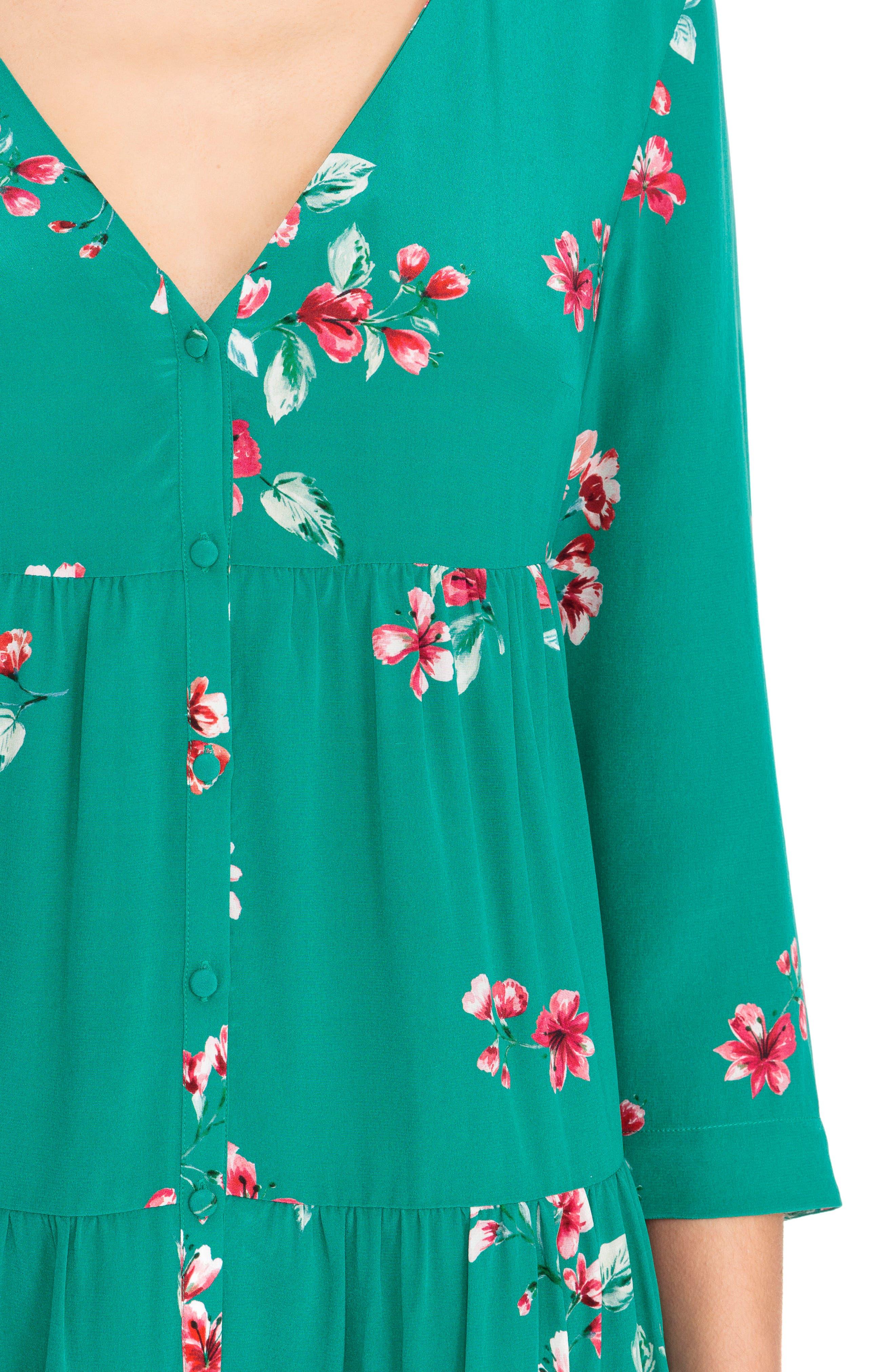 Aure Silk A-Line Dress,                             Alternate thumbnail 12, color,