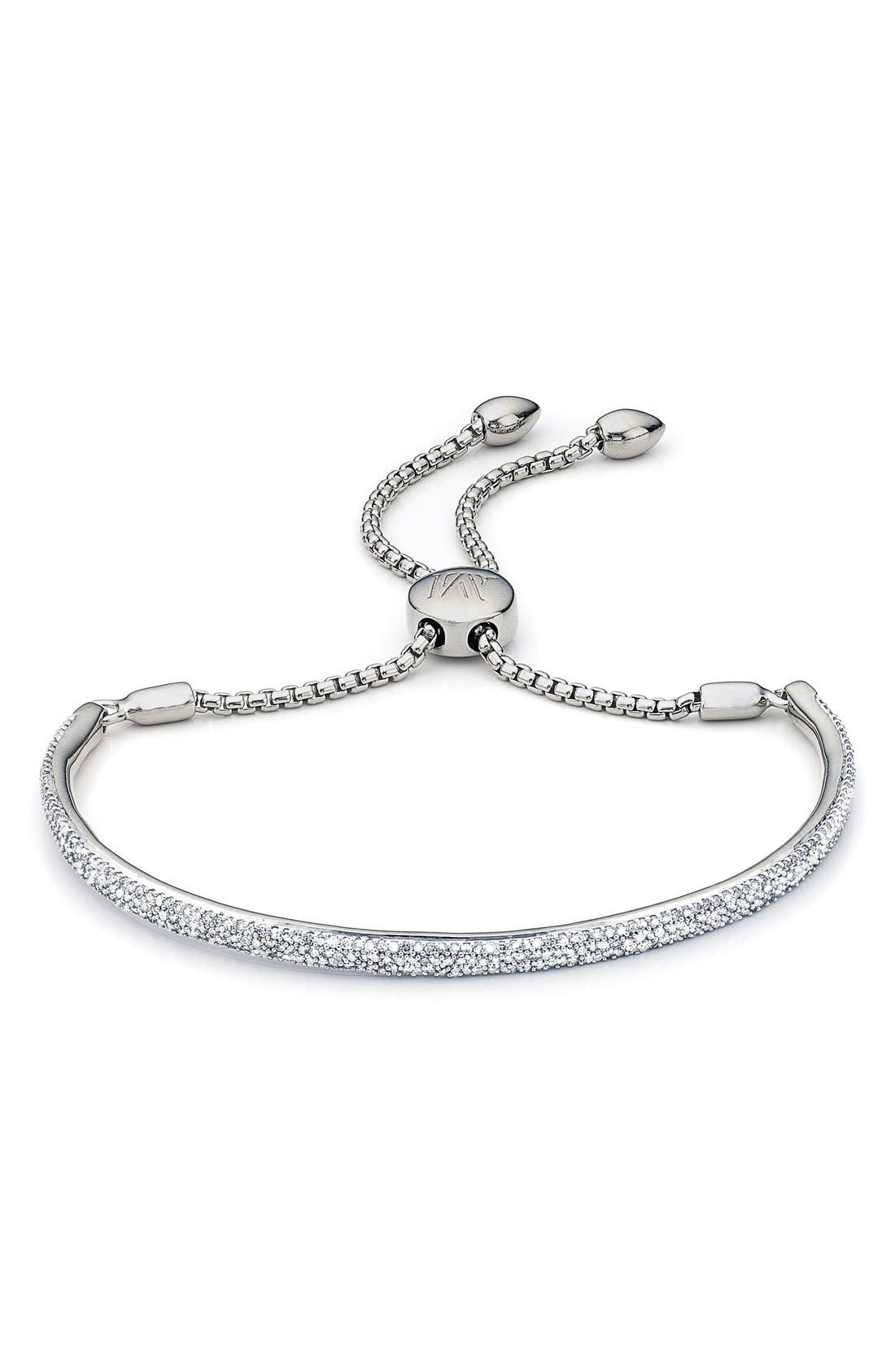 'Fiji' Diamond Station Bracelet,                         Main,                         color, SILVER