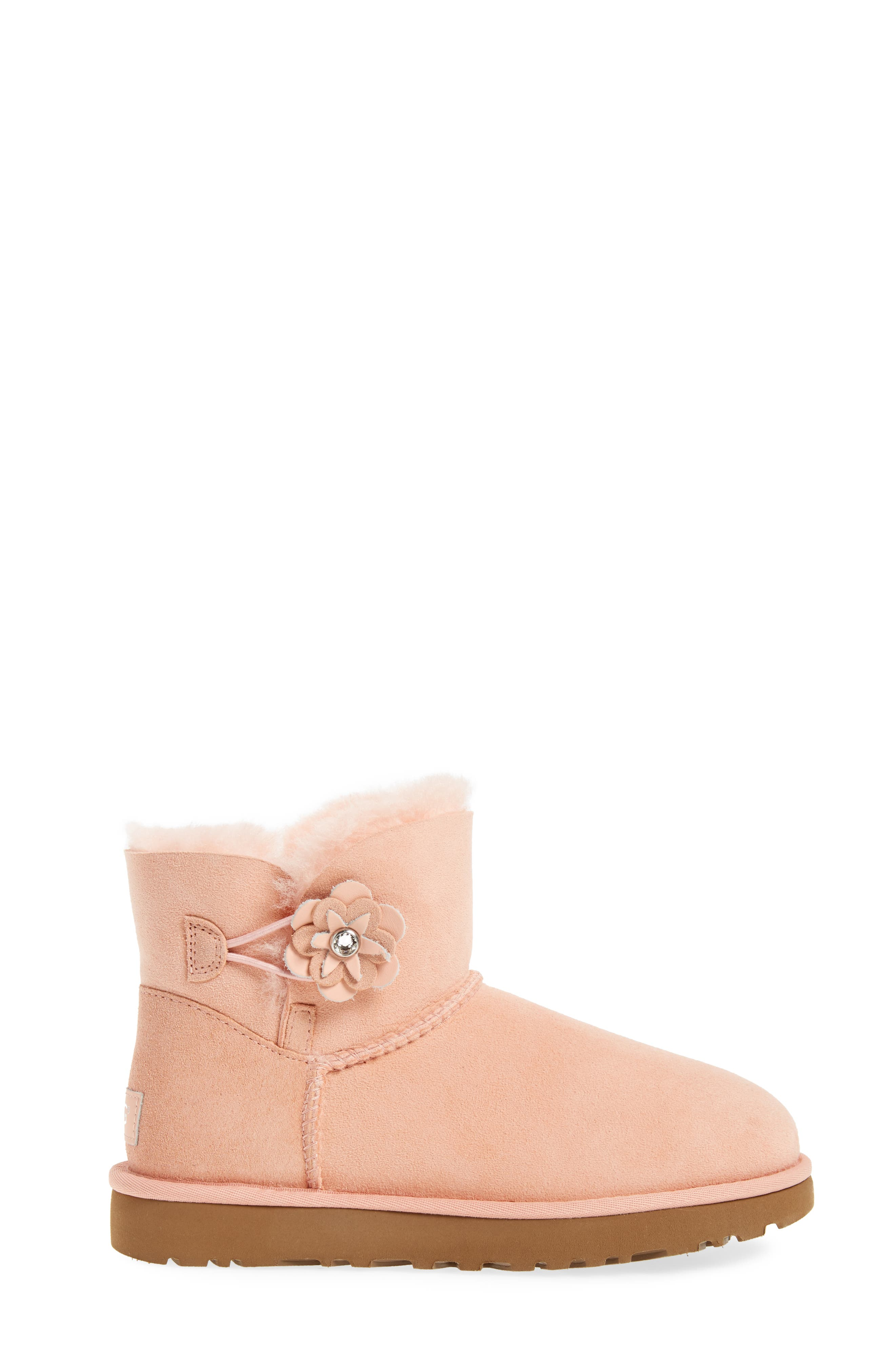 Bailey Petal Genuine Shearling Lined Mini Boot,                             Alternate thumbnail 9, color,