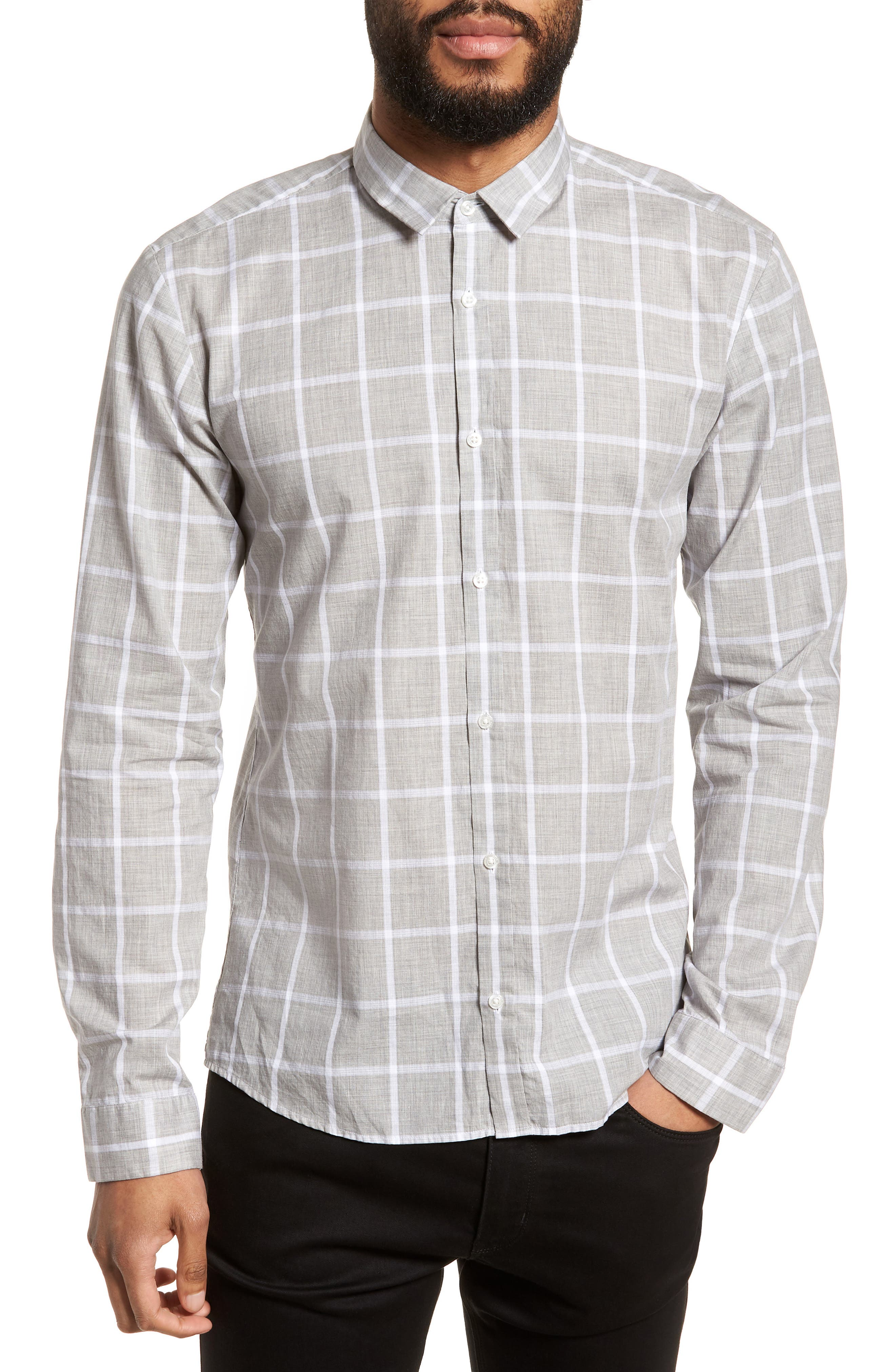 Ero Slim Fit Check Sport Shirt,                         Main,                         color, 061