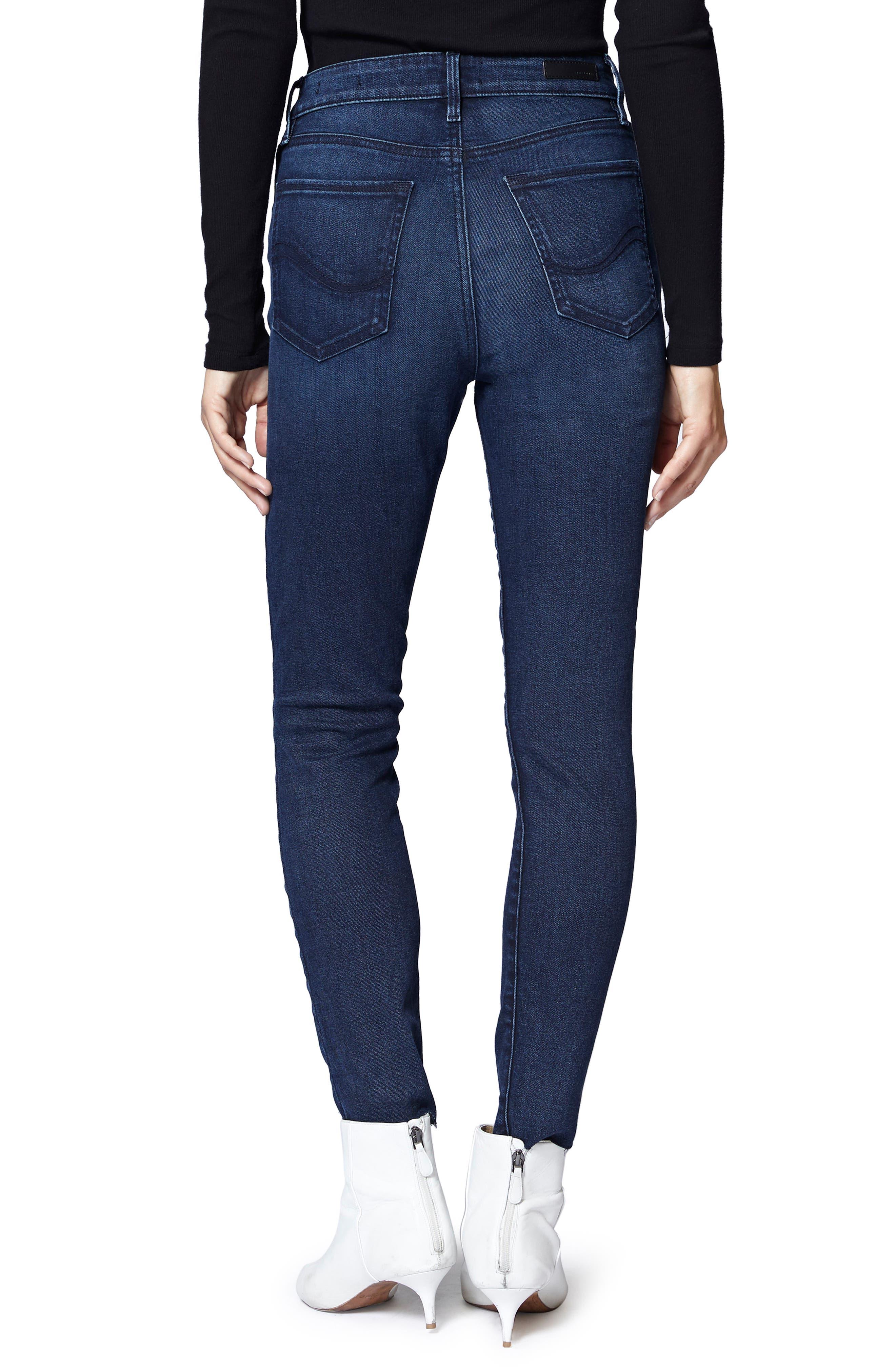 SANCTUARY,                             Social High Rise Raw Hem Skinny Ankle Jeans,                             Alternate thumbnail 2, color,                             401