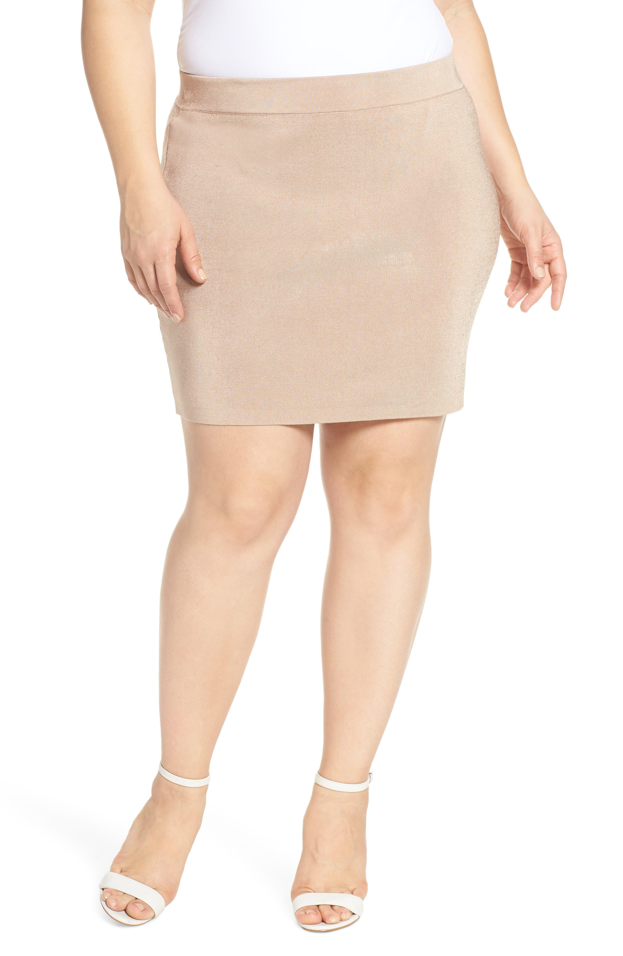 Plus Size Leith Sweater Miniskirt, Brown