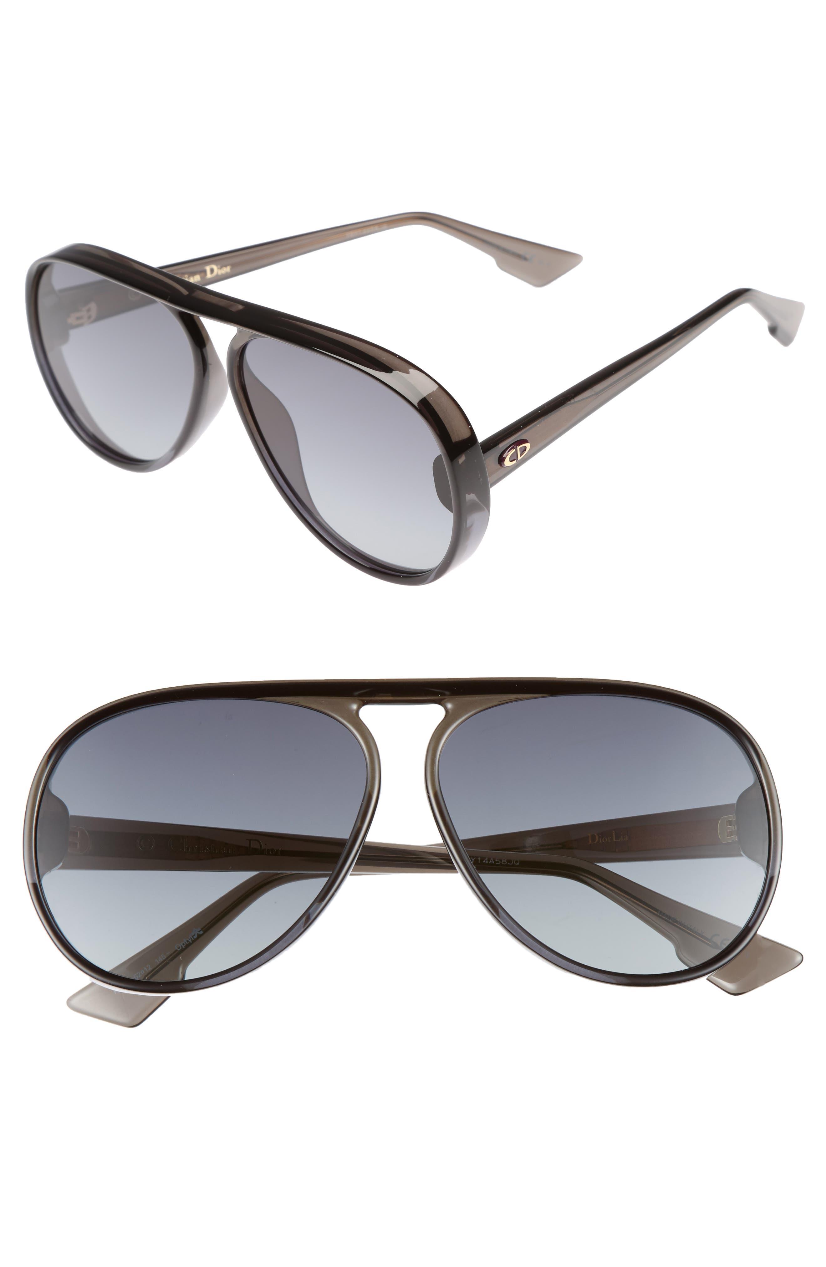 Lia 62mm Oversize Aviator Sunglasses,                             Main thumbnail 1, color,                             020