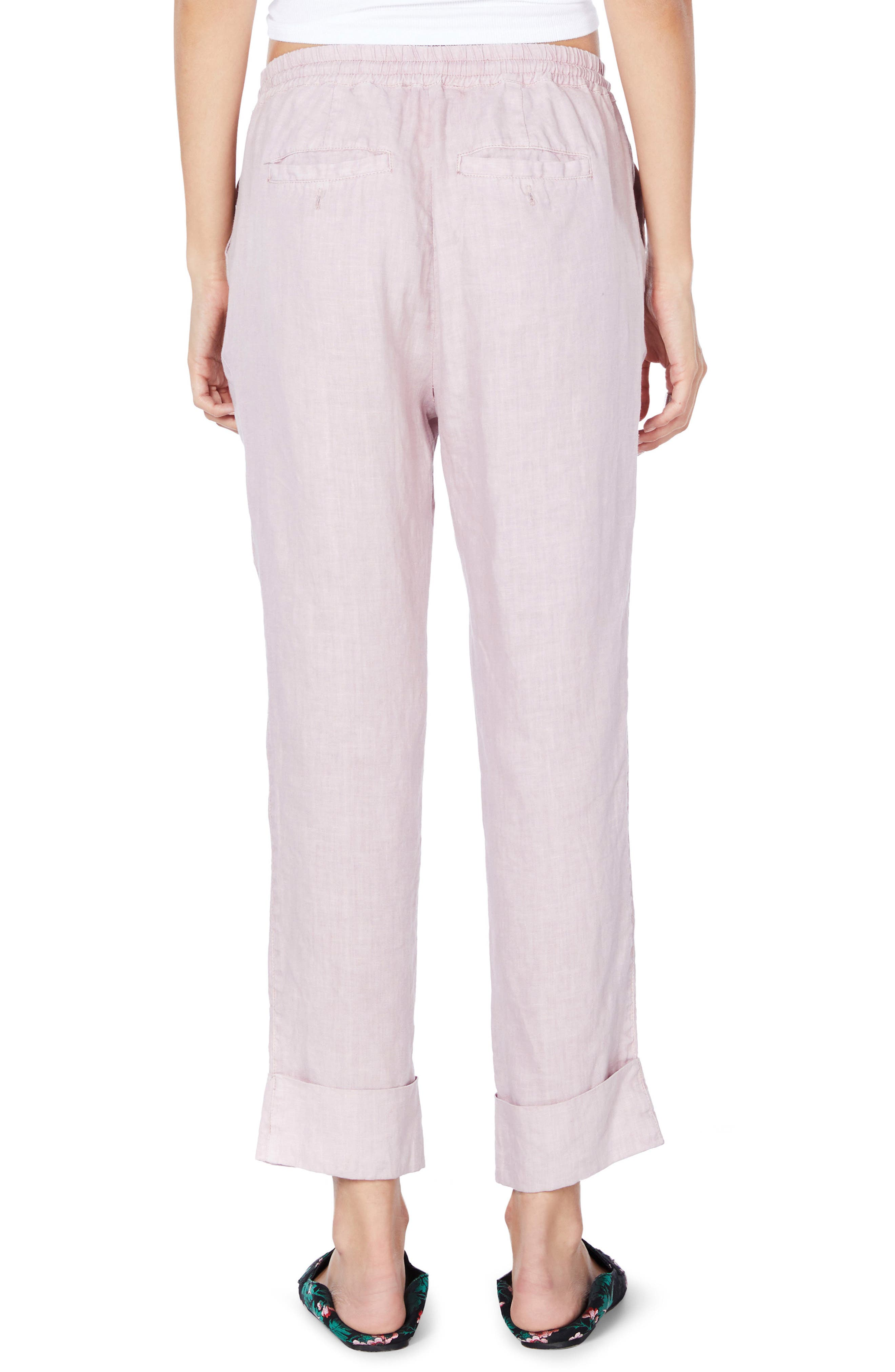 Cuffed Linen Pants,                             Alternate thumbnail 6, color,