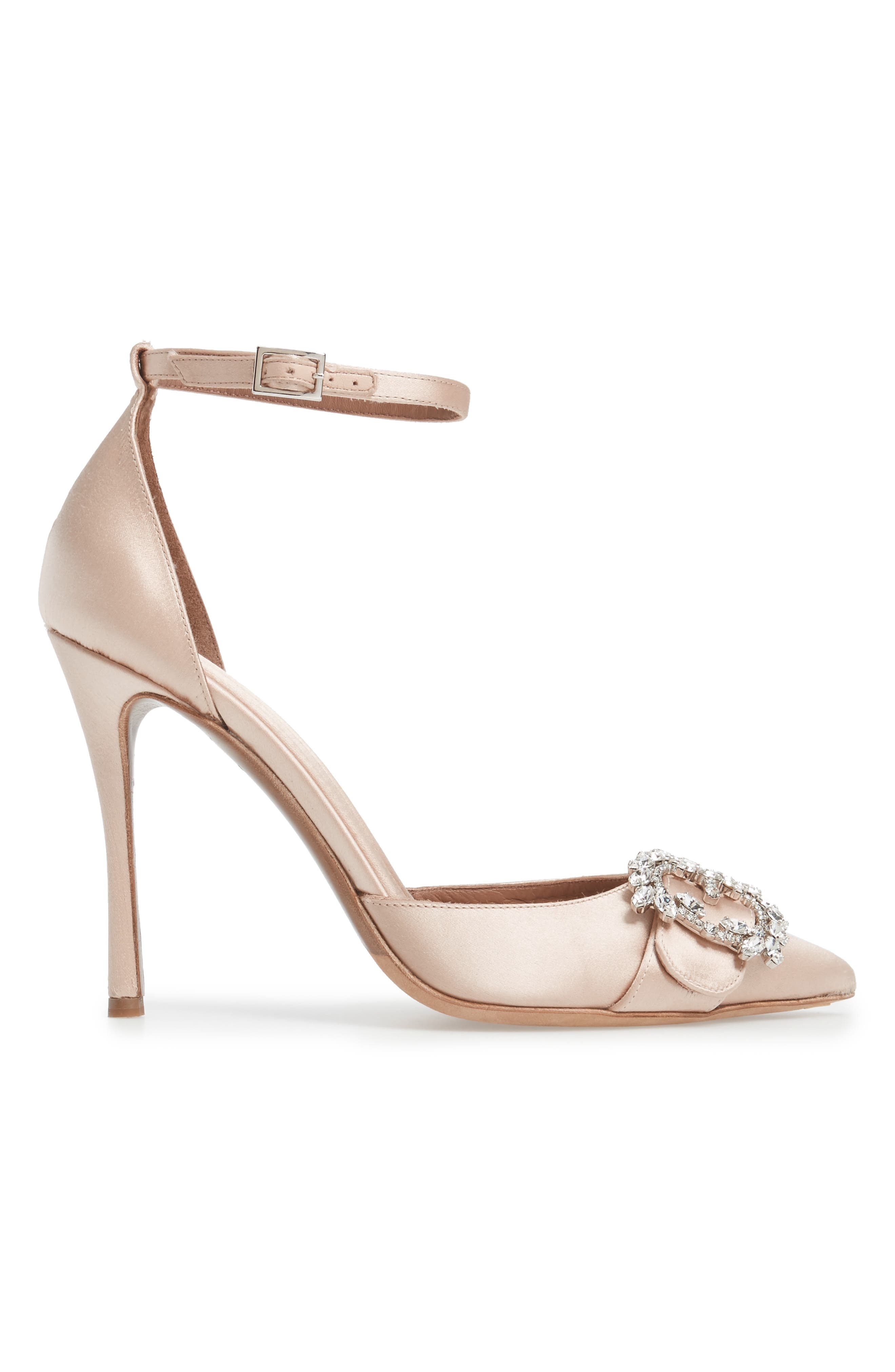 Tie The Knot Crystal Buckle Pump,                             Alternate thumbnail 3, color,                             250