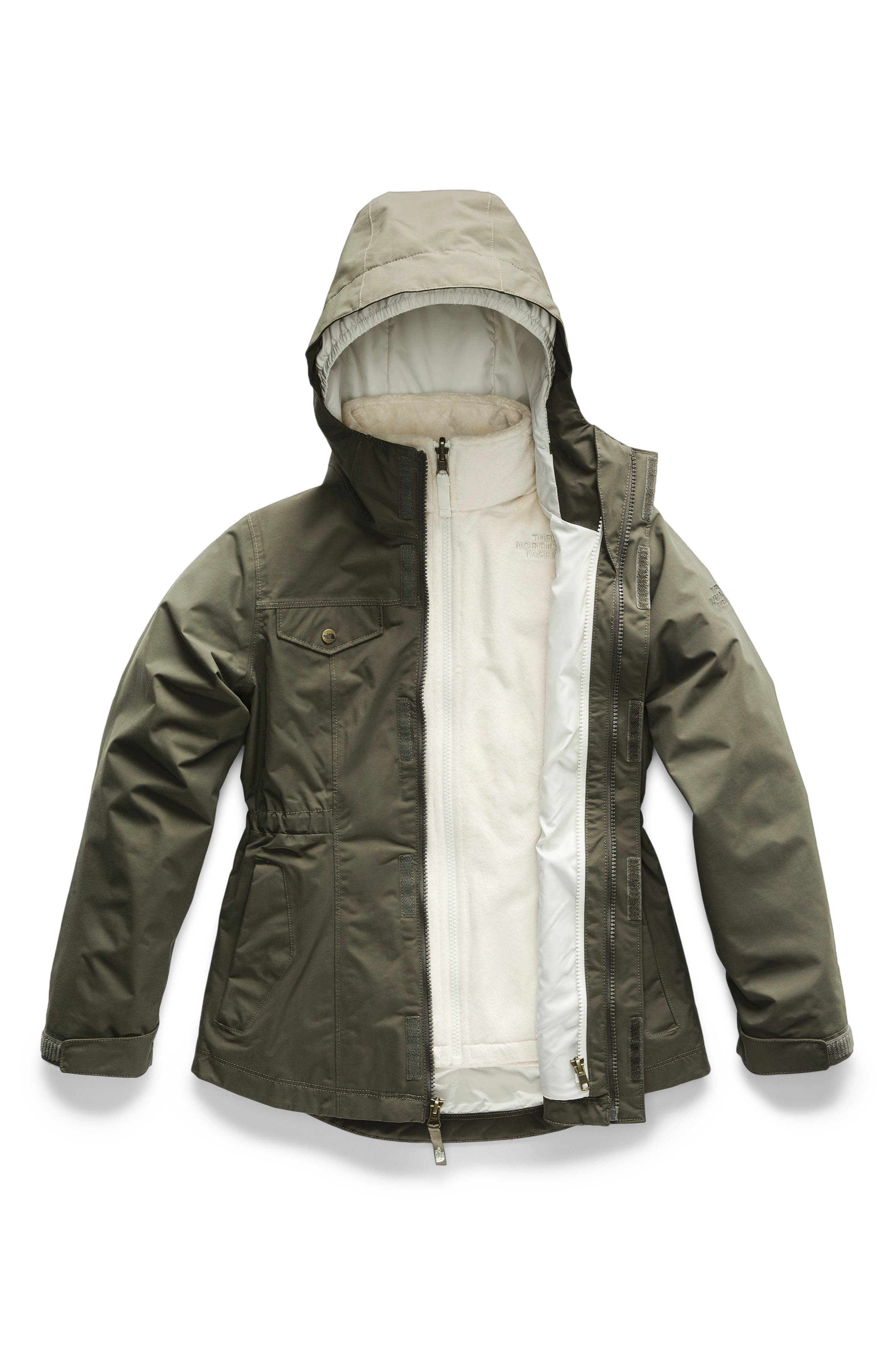 Osolita TriClimate<sup>®</sup> Waterproof 3-in-1 Jacket,                             Main thumbnail 1, color,                             NEW TAUPE GREEN