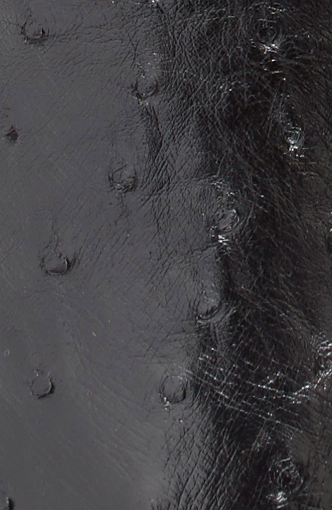 Ostrich Belt,                             Alternate thumbnail 3, color,                             001
