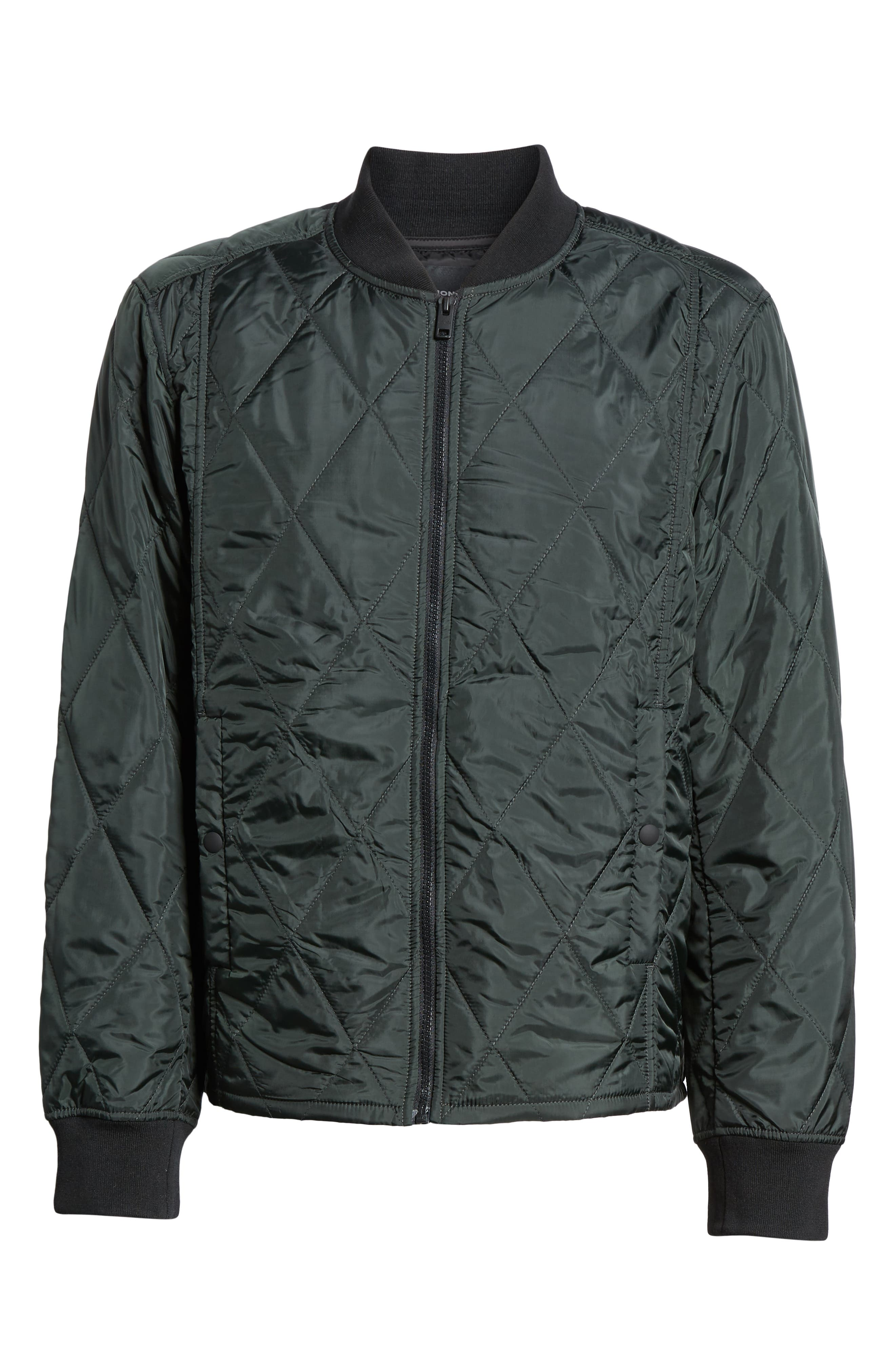 Quilted Jacket,                             Alternate thumbnail 3, color,                             COMBAT GREEN